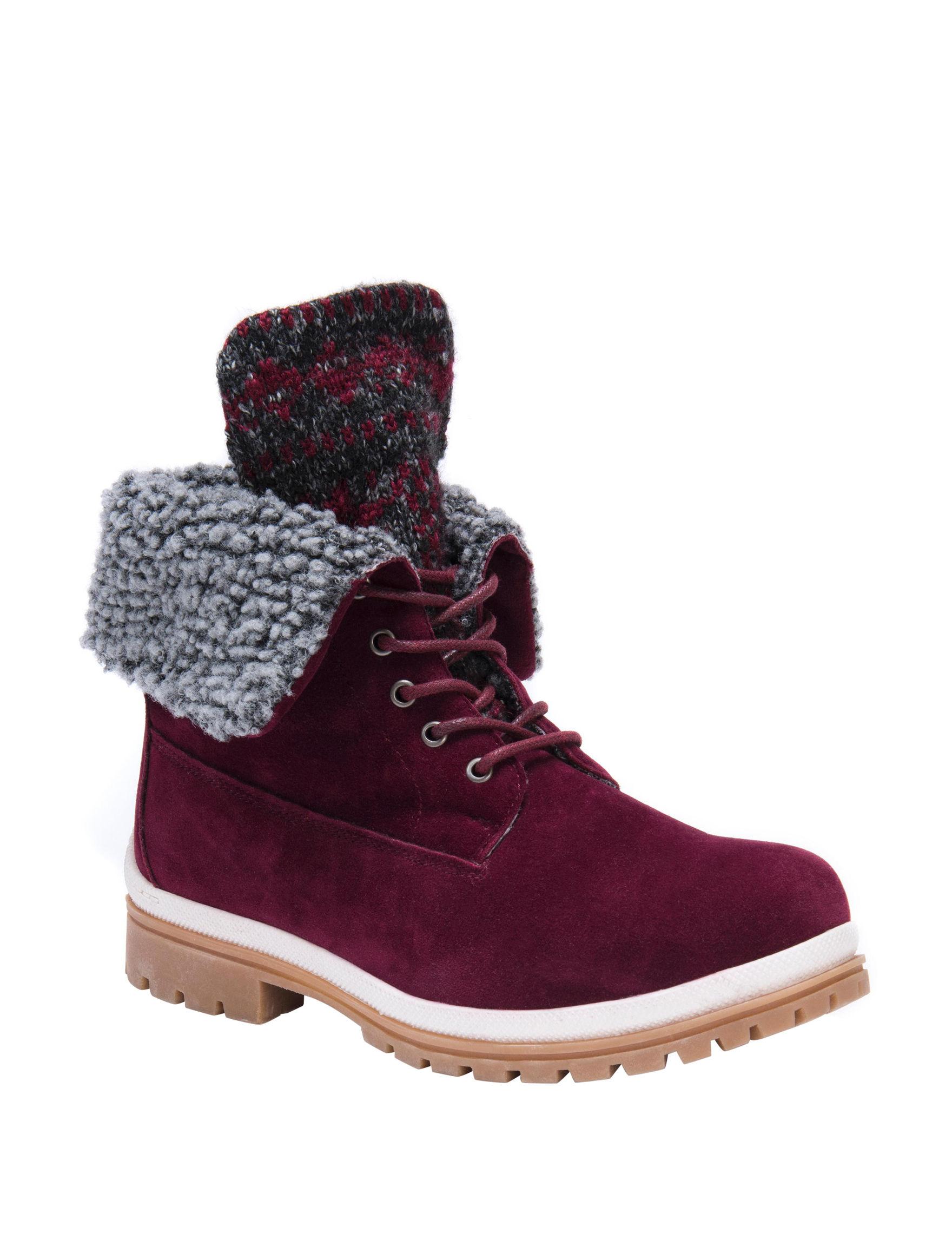 Muk Luks Burgundy Winter Boots