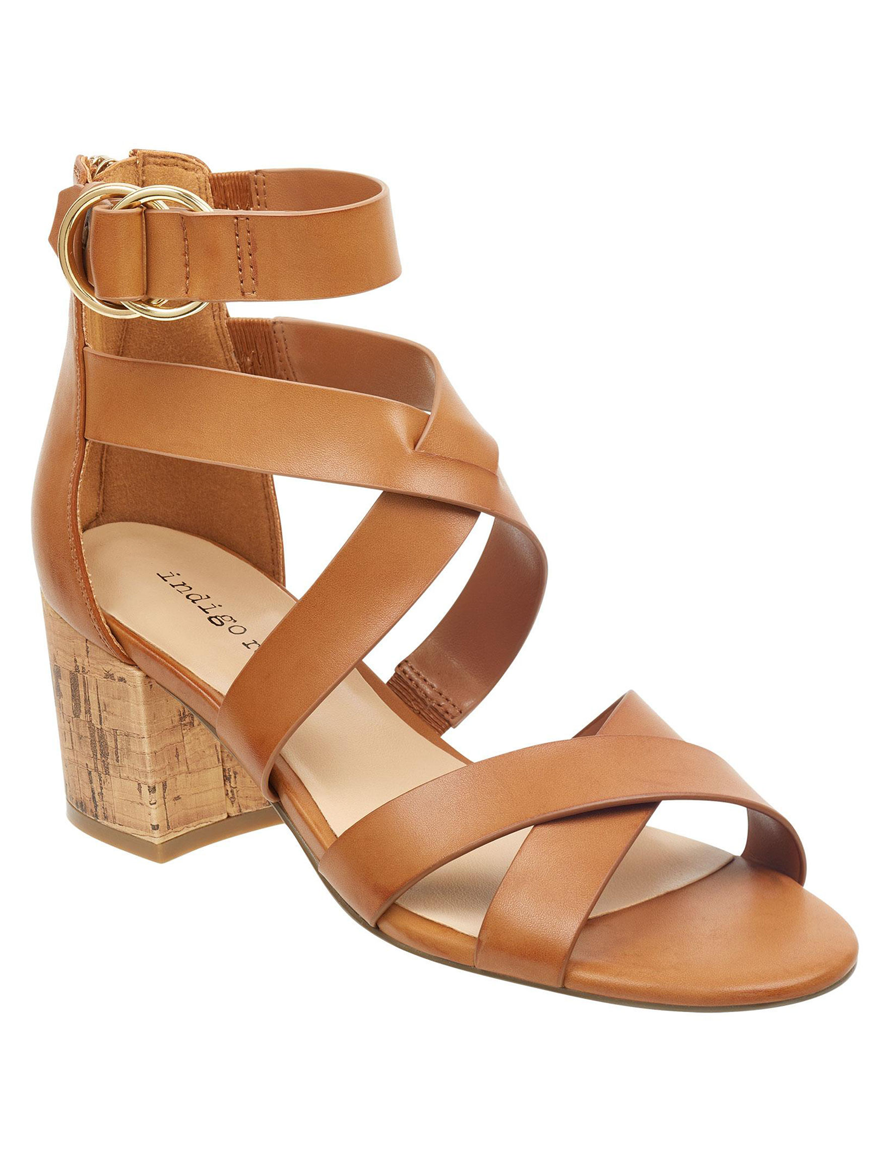Indigo Rd. Beige Heeled Sandals