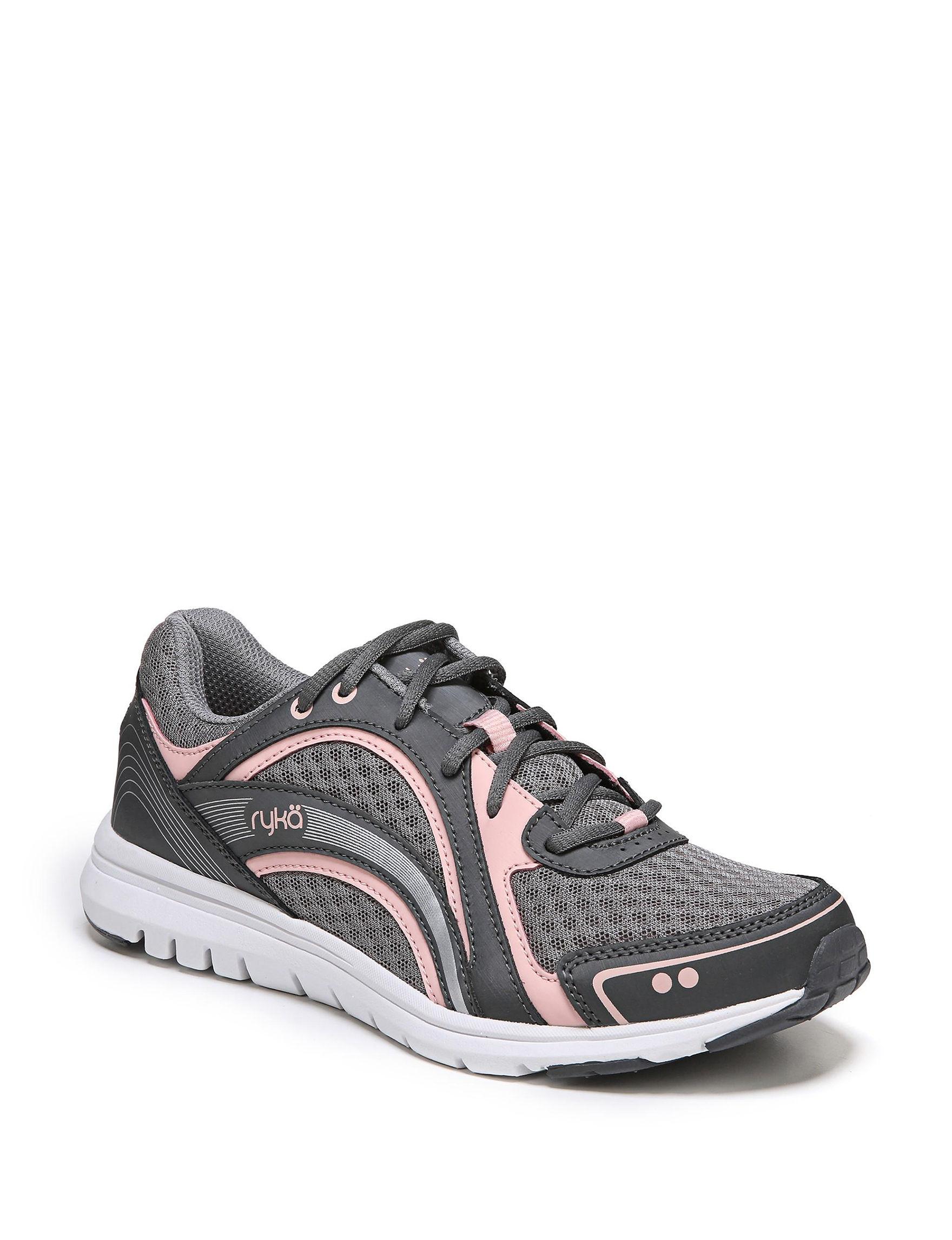 Ryka Grey / Pink Comfort Shoes