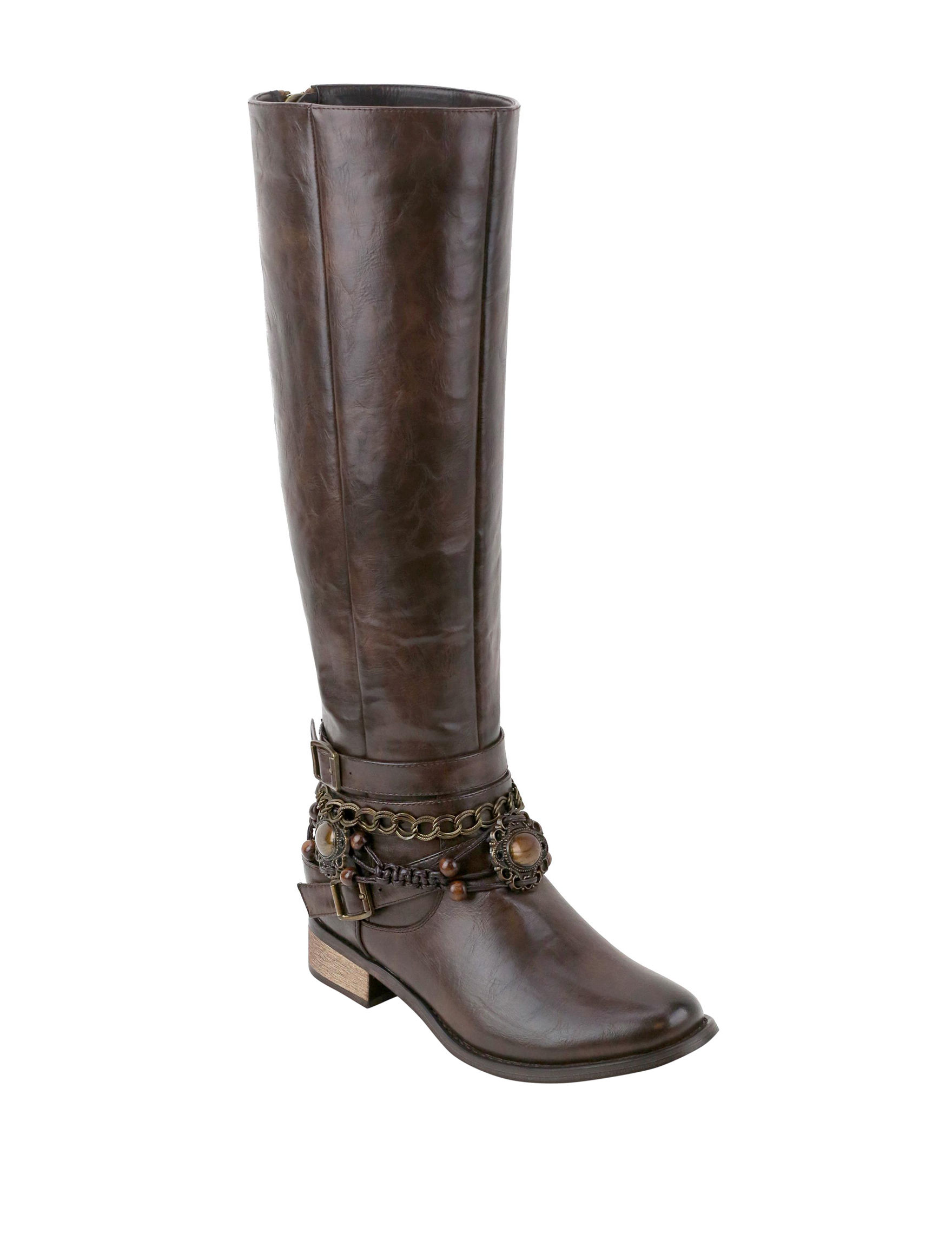 Olivia Miller Brown Riding Boots