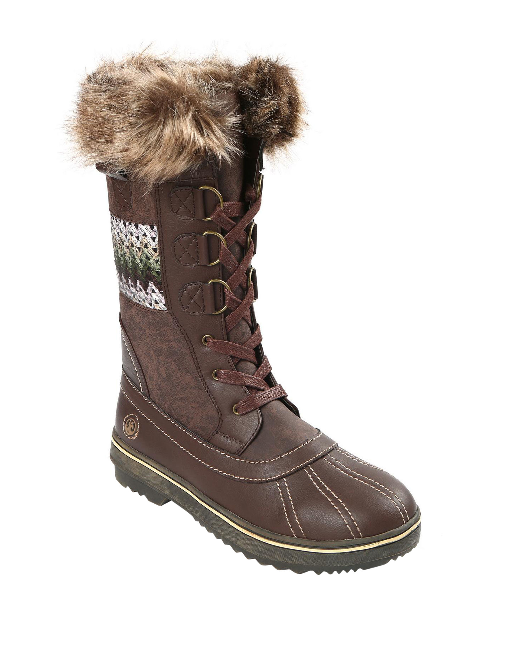 Northside Brown / Green Winter Boots