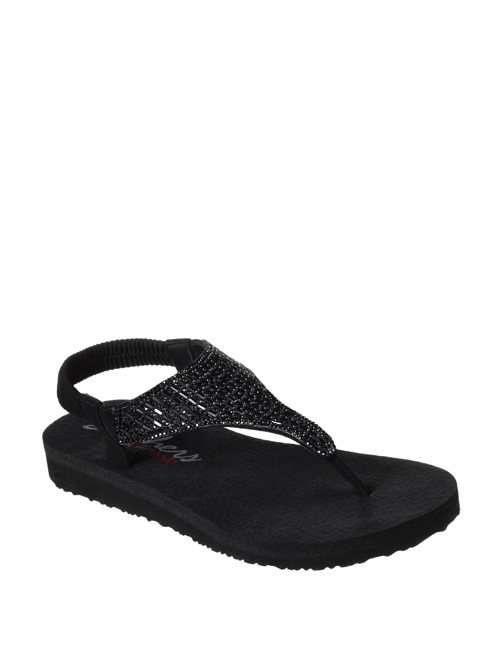 Skechers Black Flip Flops