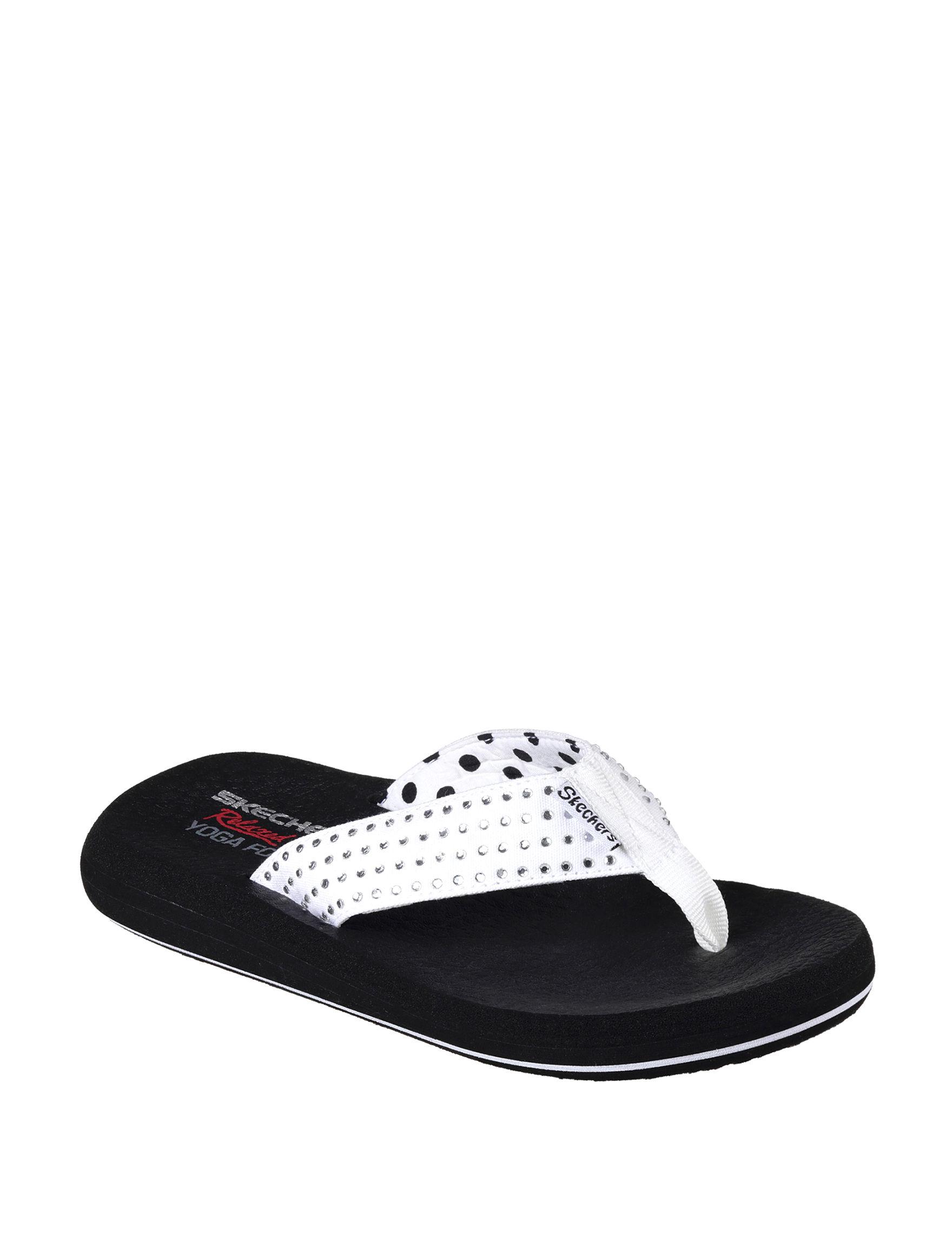 d87437713158 Skechers Asana New Age Flip Flops