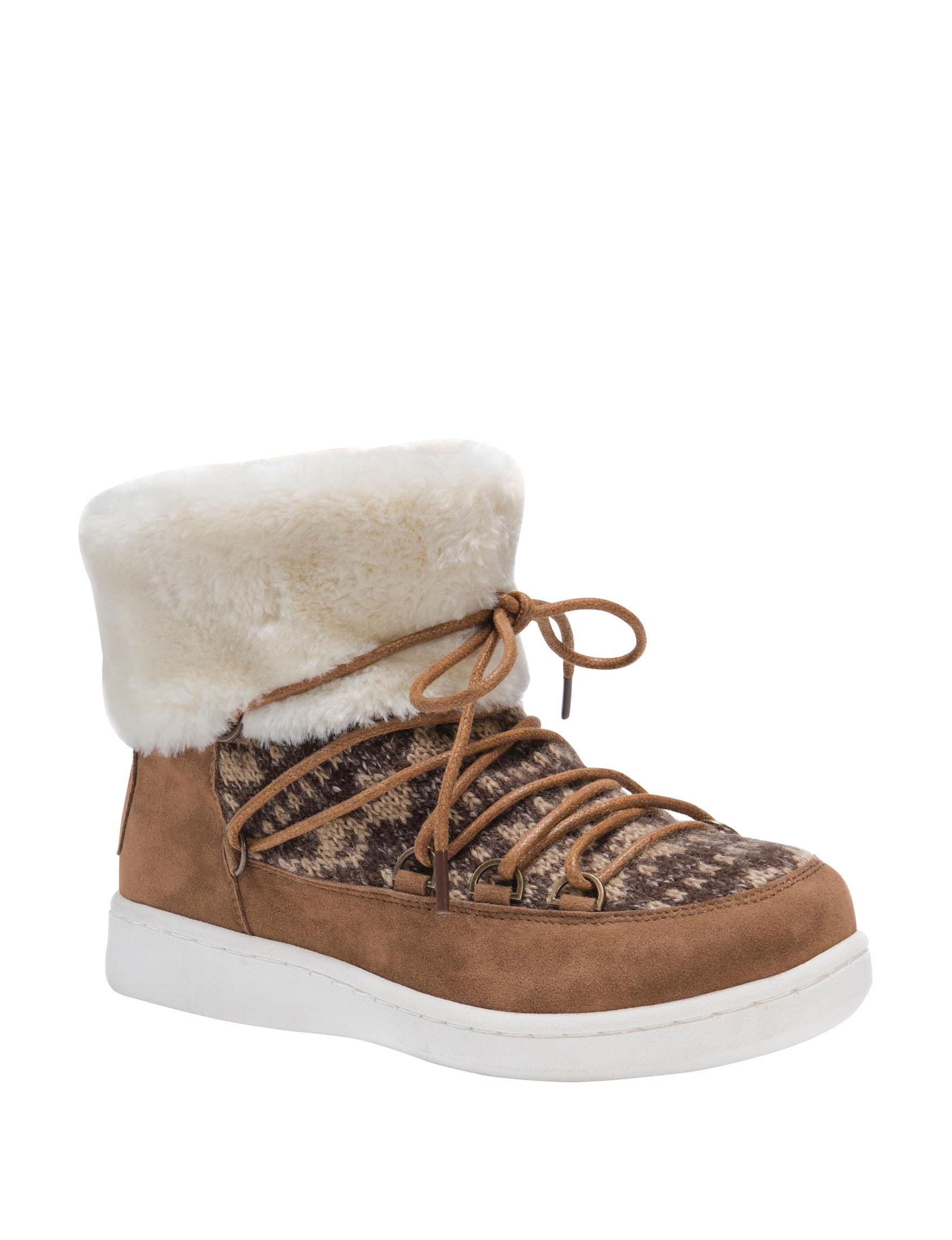 Muk Luks Tan Winter Boots