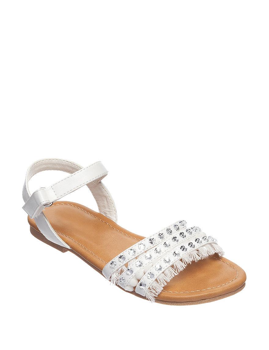 143 Girl White Flat Sandals