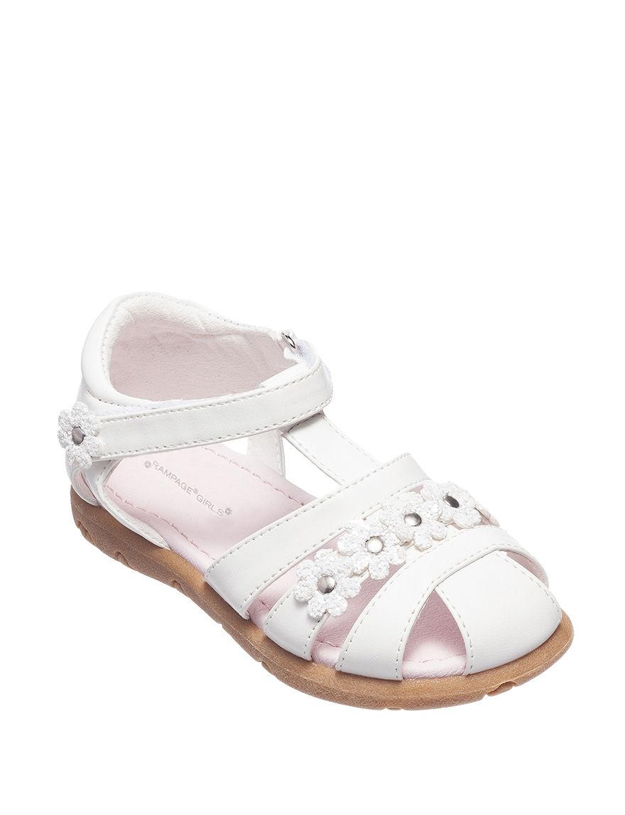 Rampage White Flat Sandals