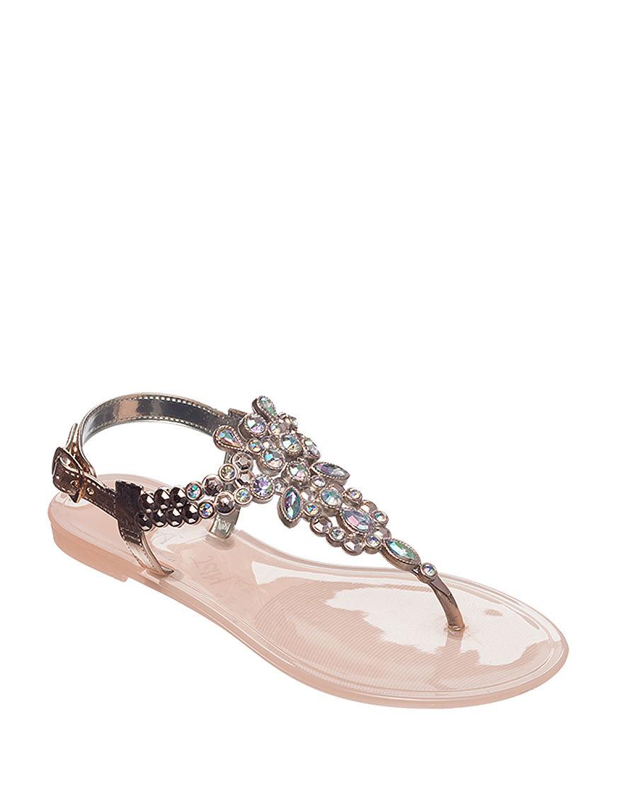 Olivia Miller Blush Flat Sandals