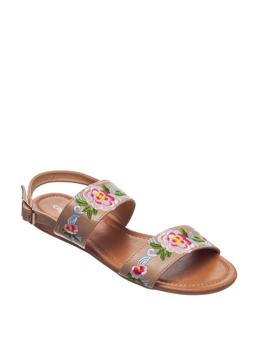 Capelli Beige Flat Sandals