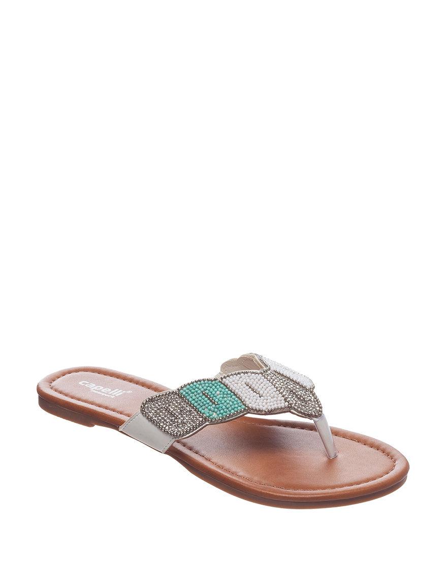 Capelli Multi Flat Sandals Flip Flops