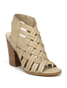 Fergalicious by Fergie Nude Heeled Sandals Peep Toe
