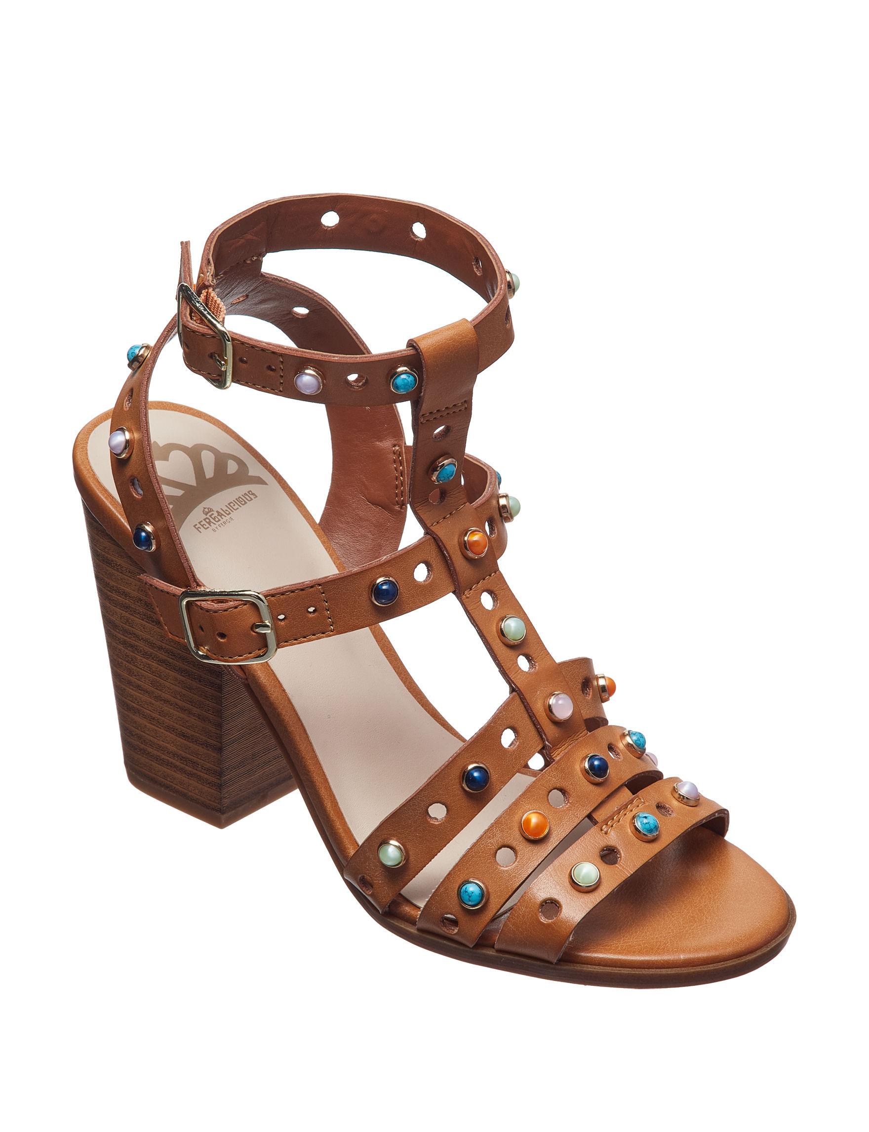 Fergalicious by Fergie Tan Heeled Sandals