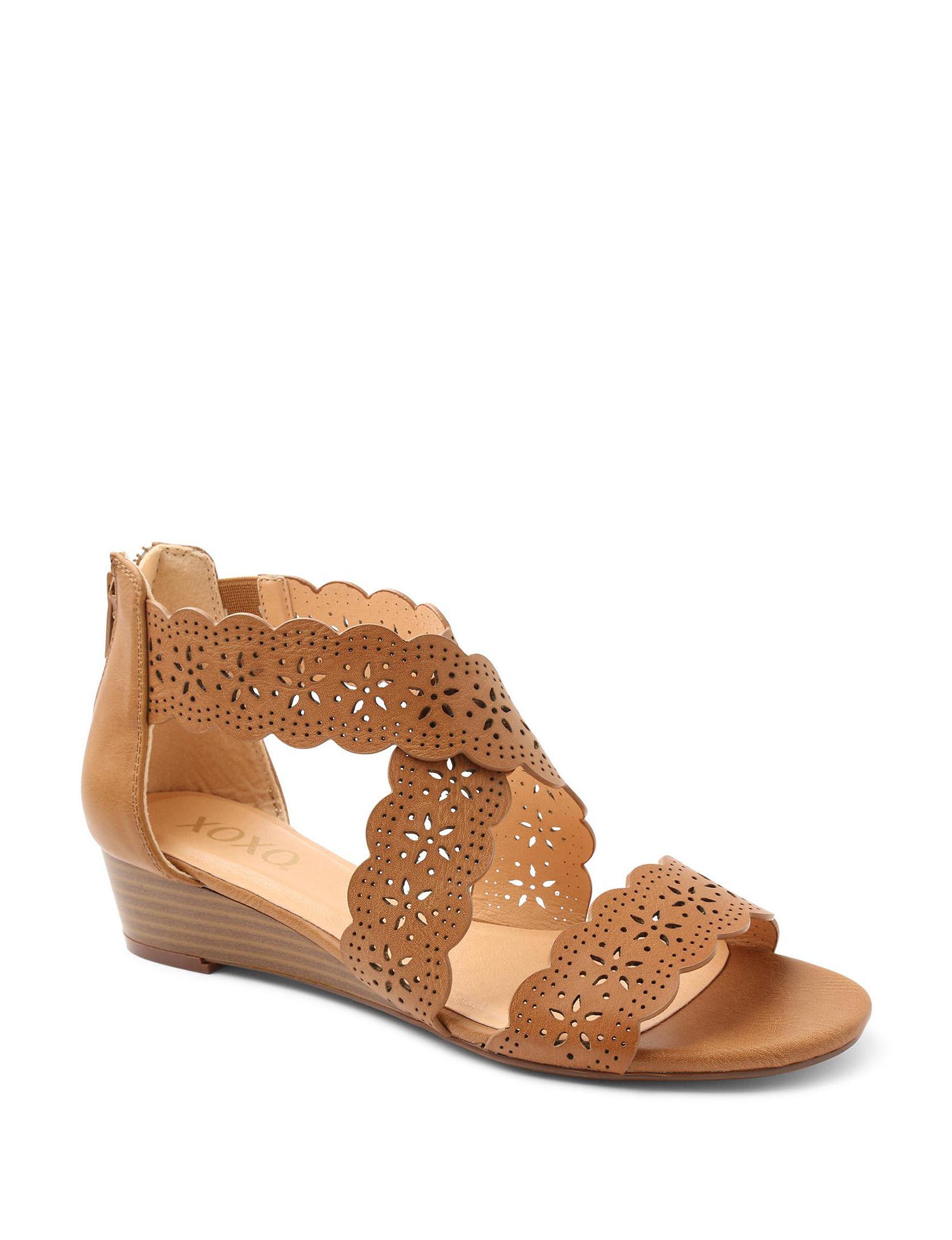 XOXO Tan Wedge Sandals