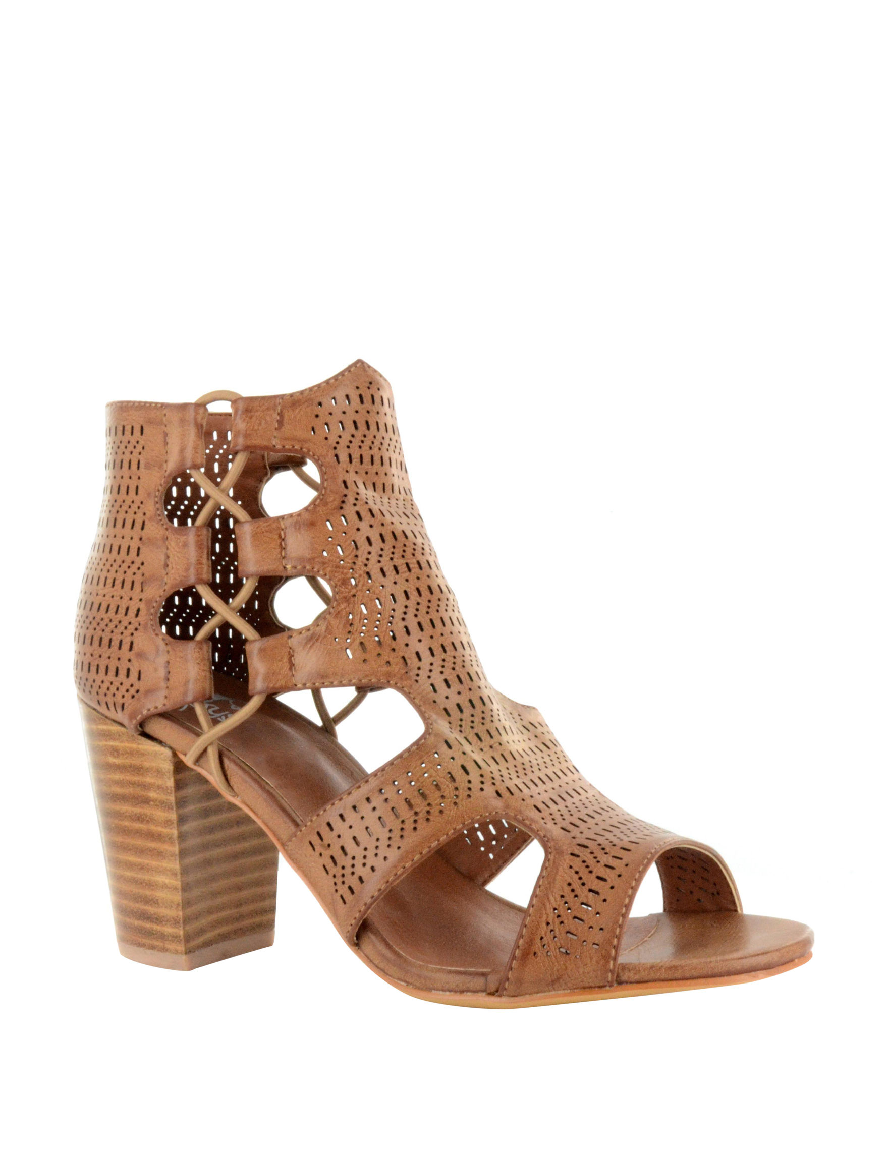 Corkys Brown Heeled Sandals