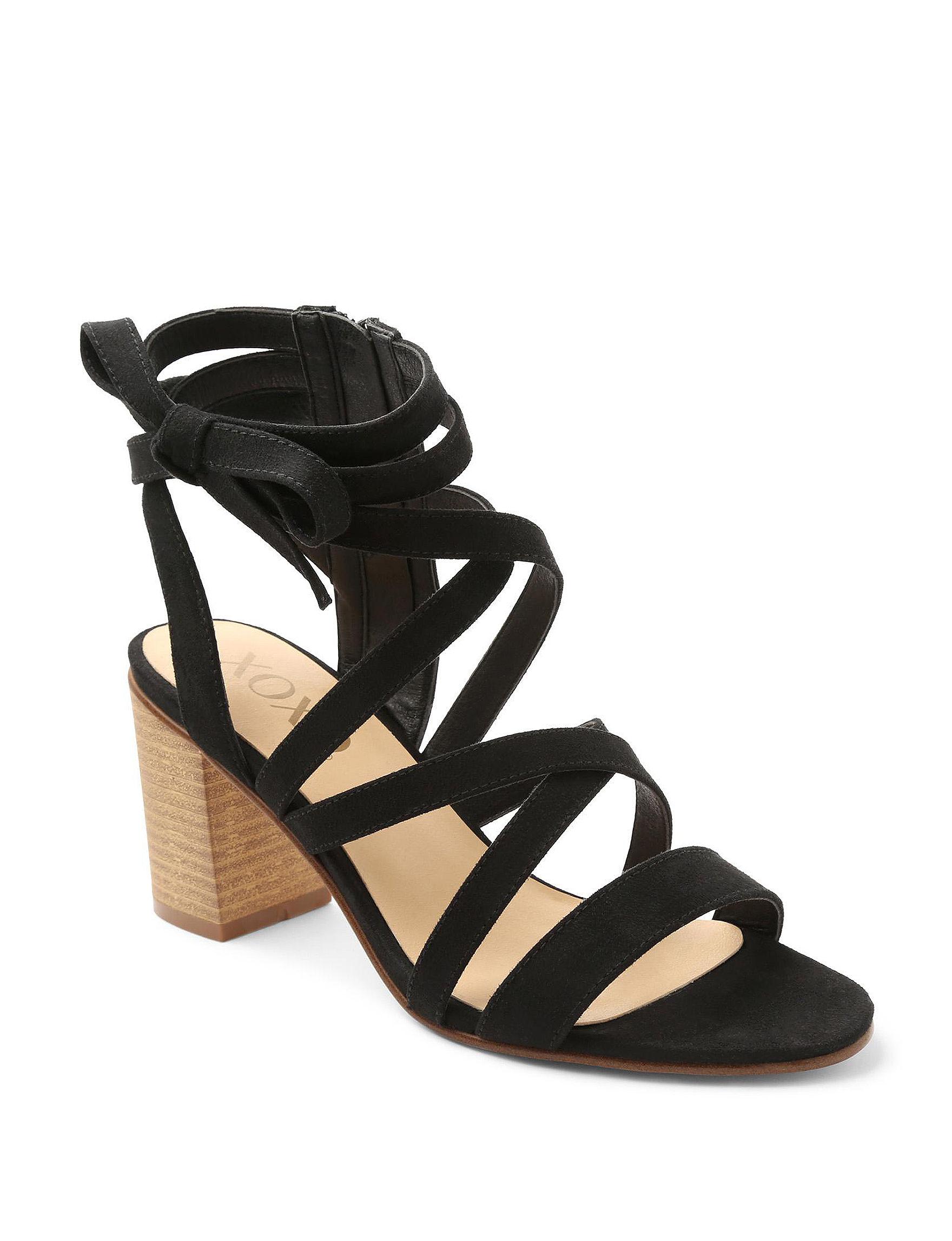 XOXO Black Heeled Sandals