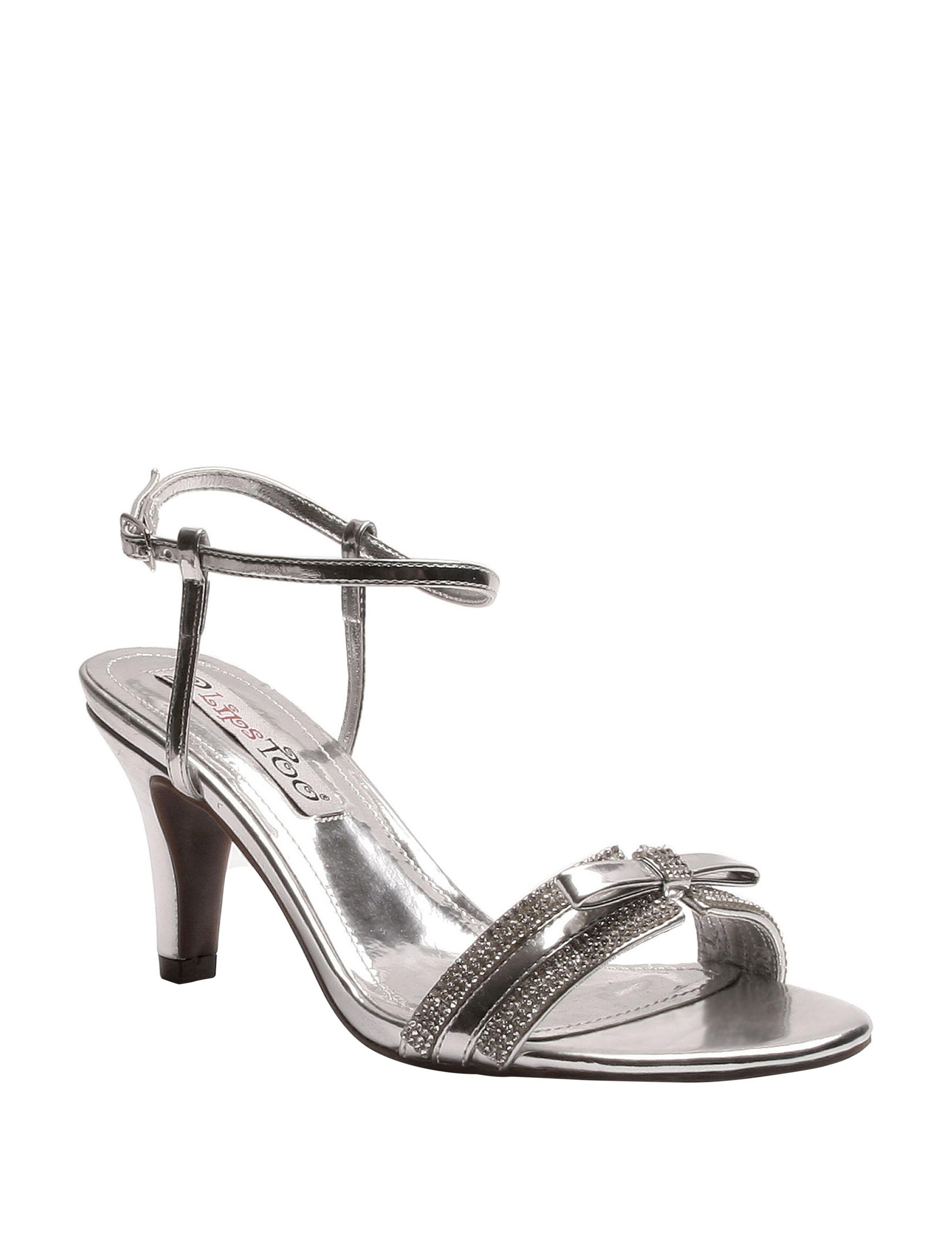 2 Lips Too Silver Heeled Sandals