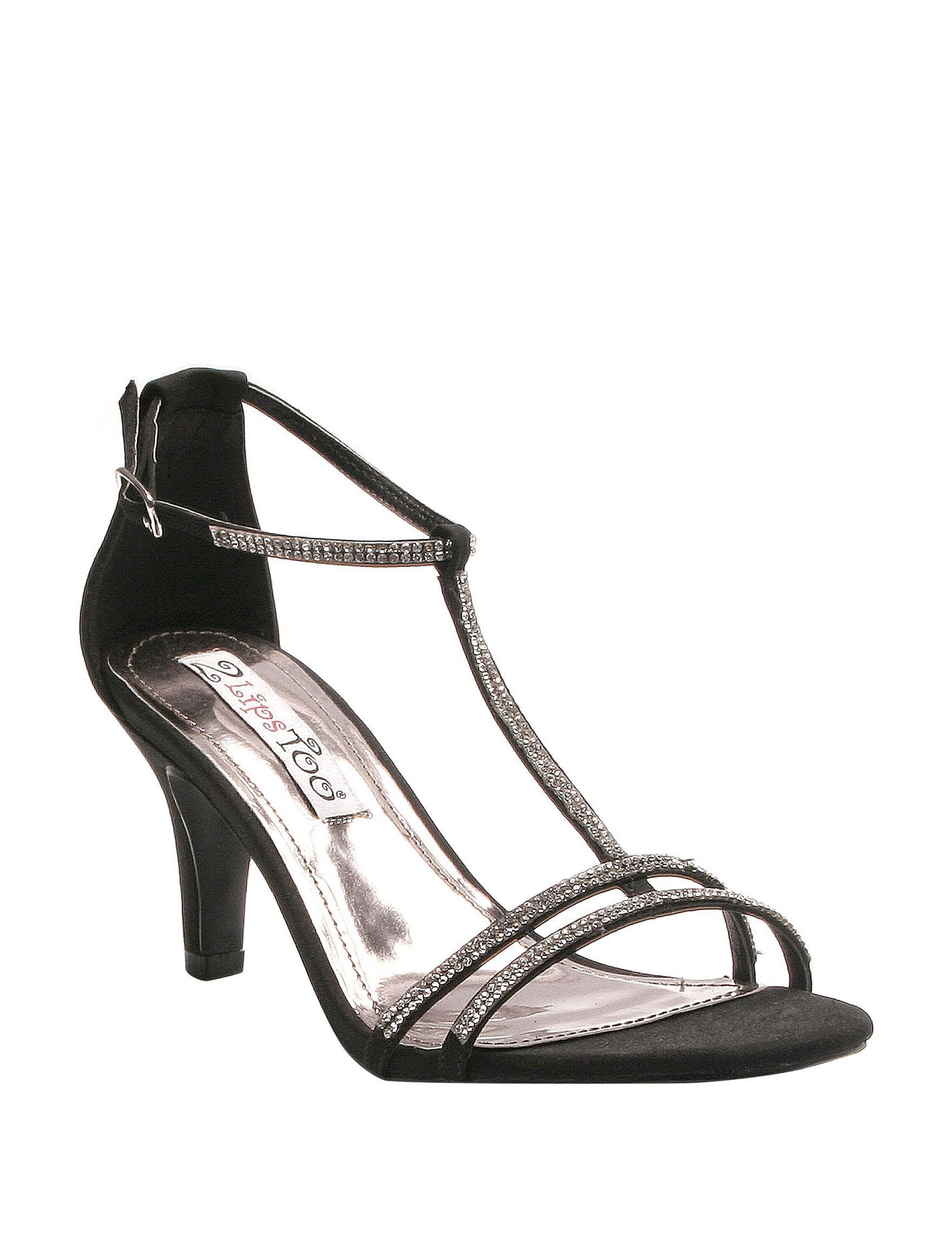 2 Lips Too Black Heeled Sandals
