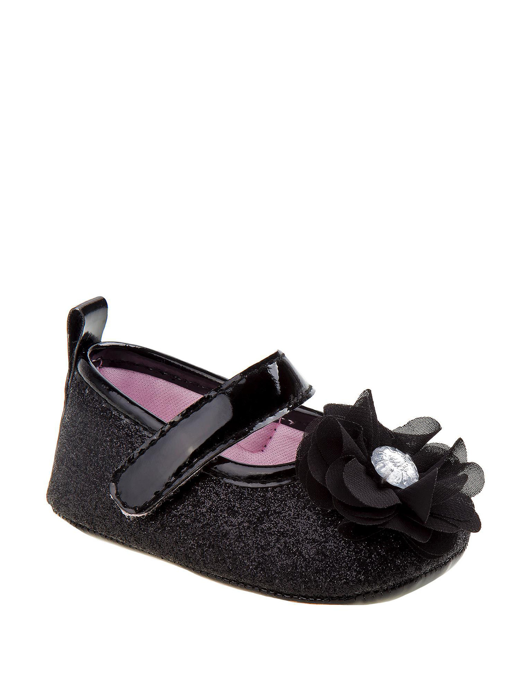 a618ab1d3 Laura Ashley Black Flat Crib Flats- Baby Girls 1-4 | Stage Stores