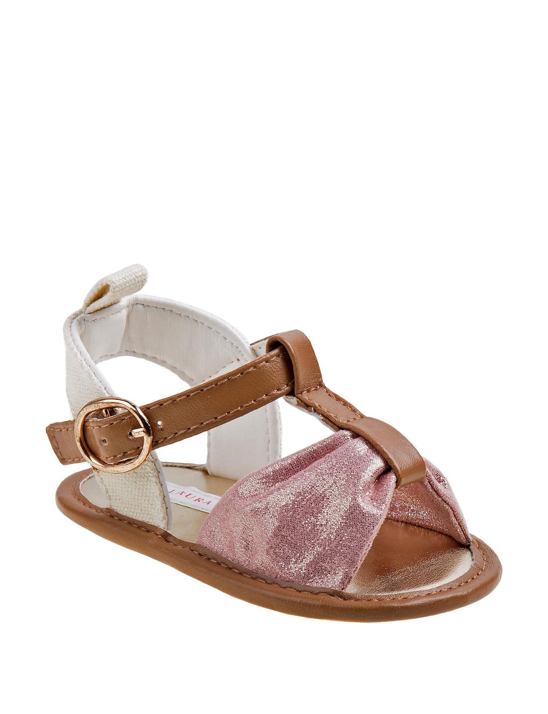 Laura Ashley Pink Flat Sandals