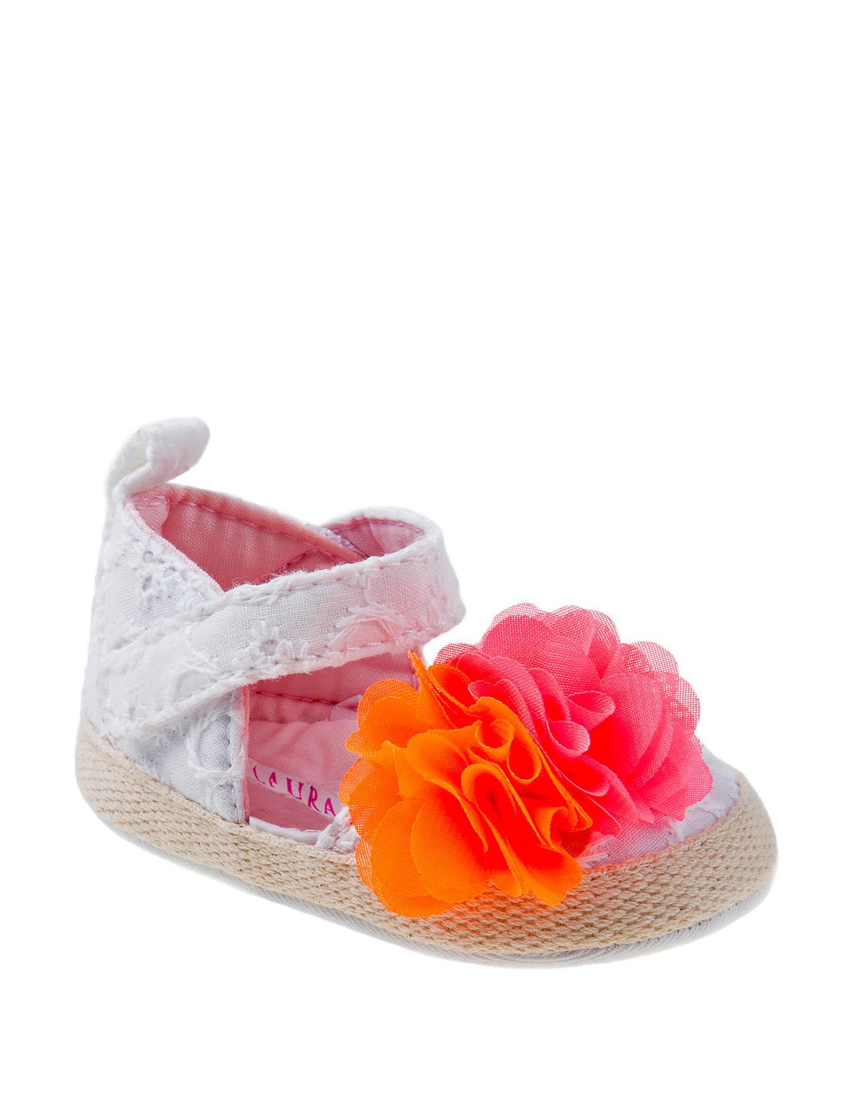 Laura Ashley White Flat Sandals