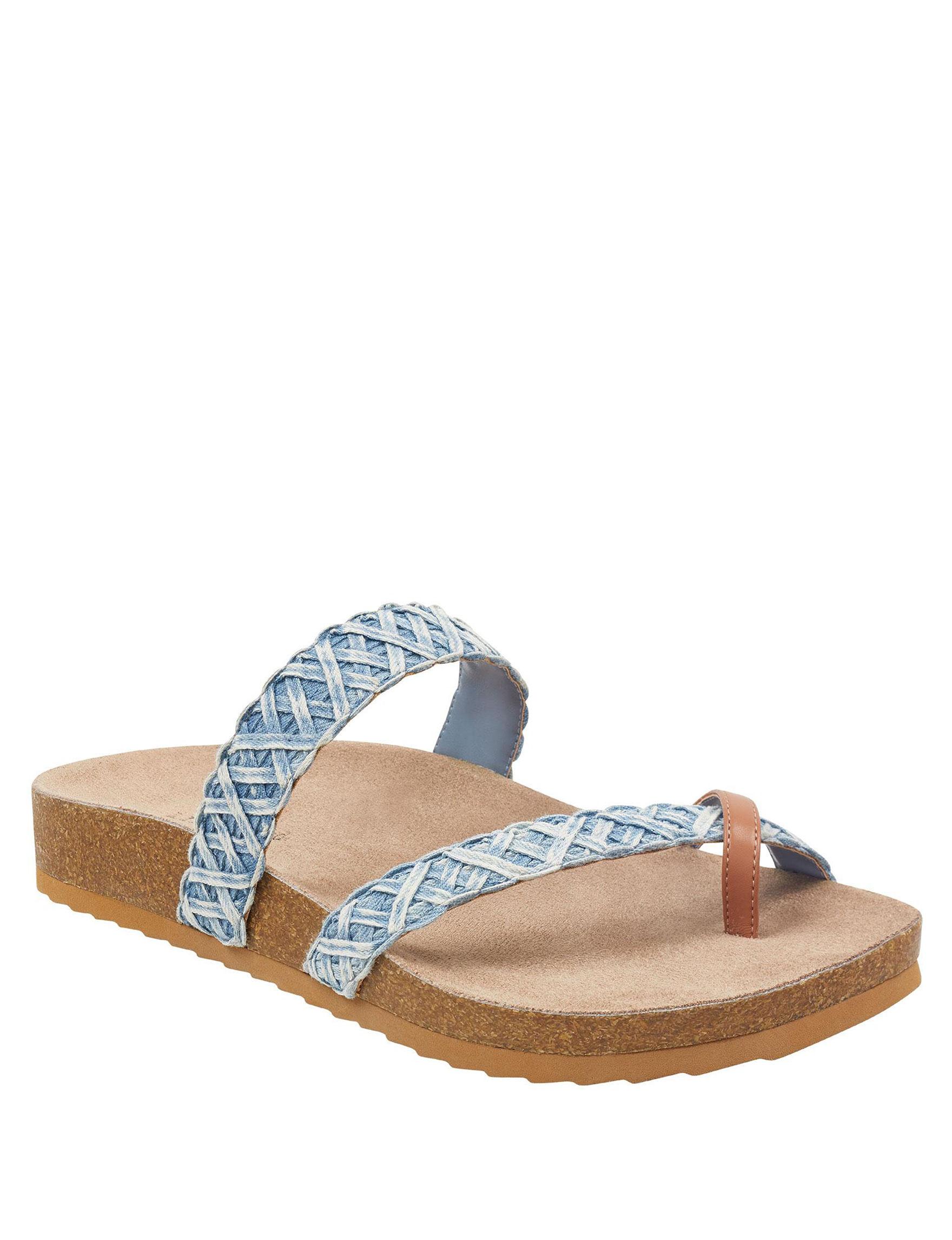 Indigo Rd. Blue Flat Sandals