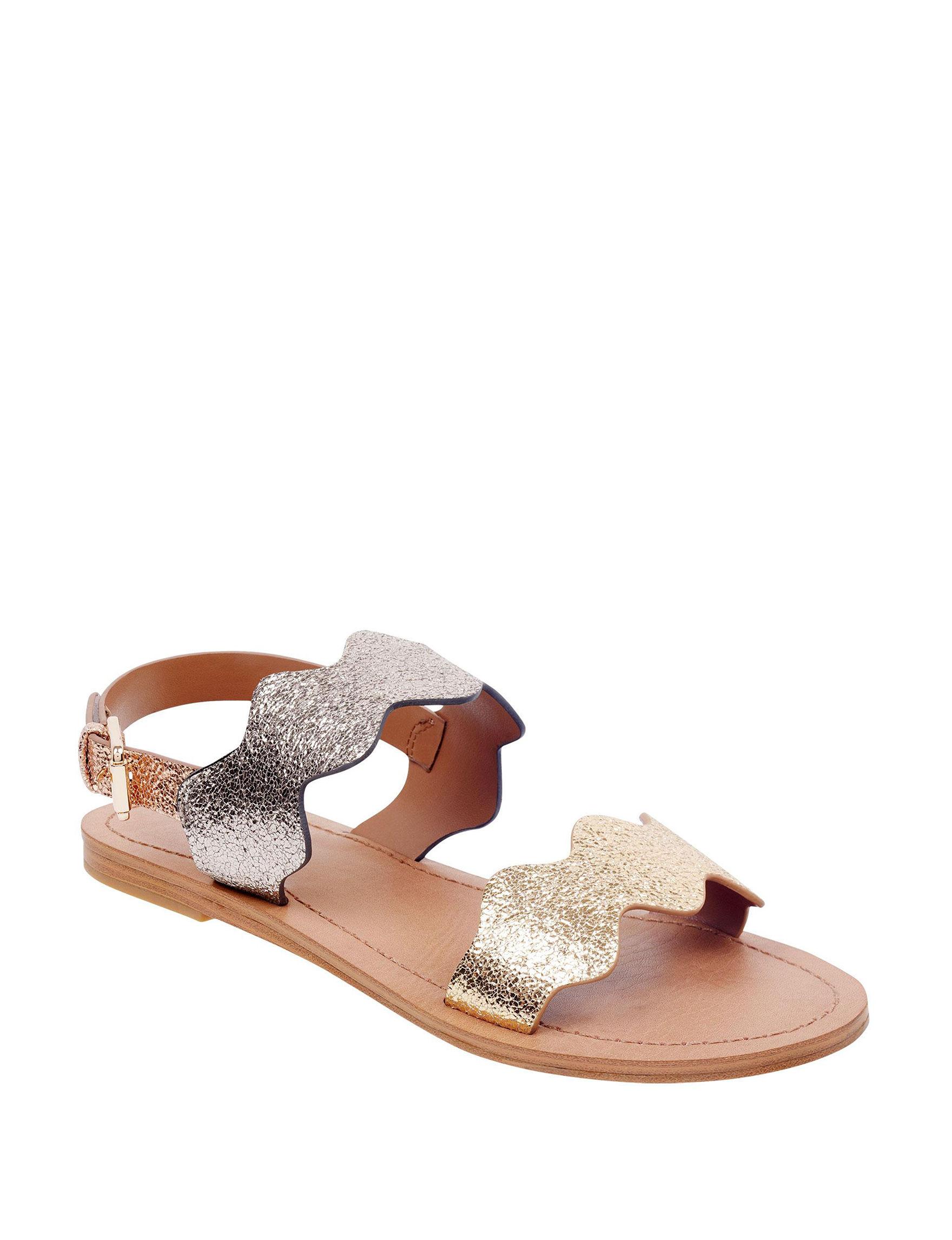 Indigo Rd. Silver / Gold Flat Sandals