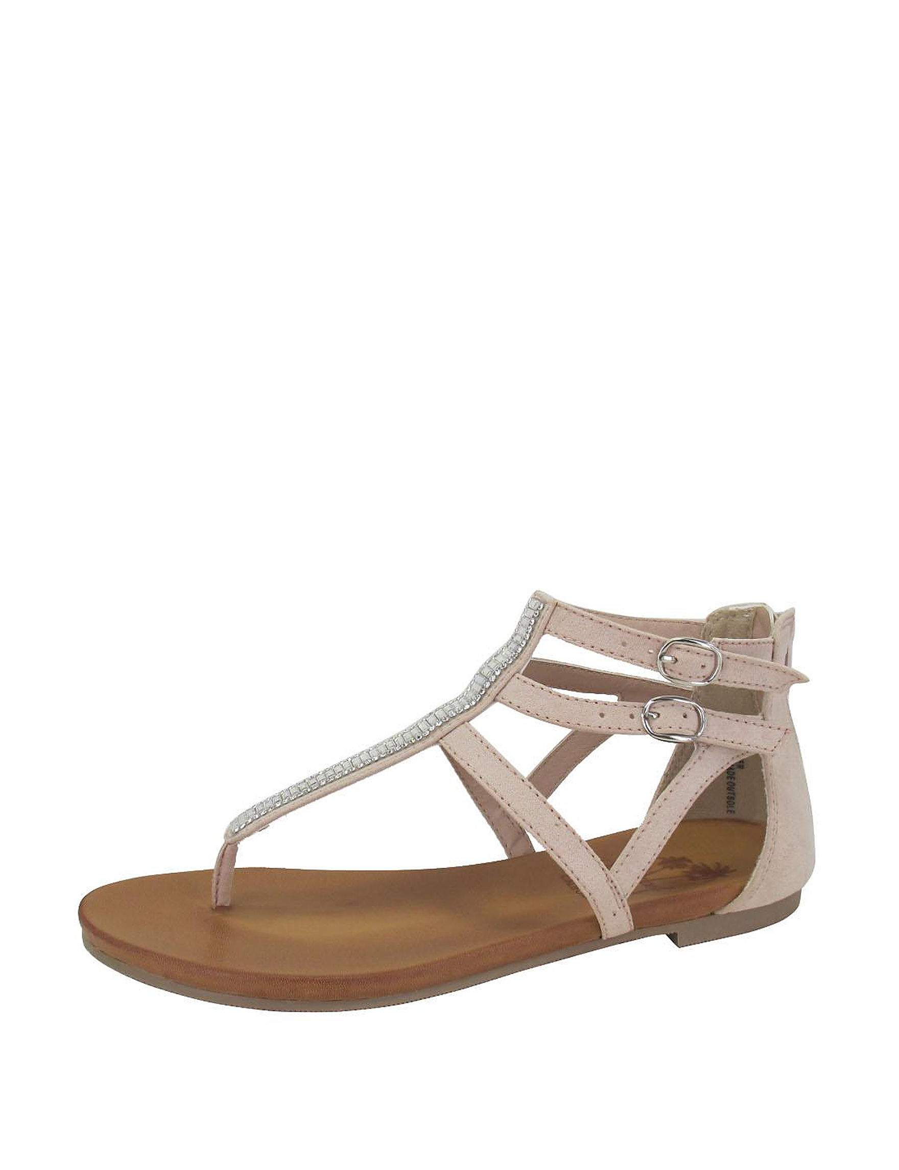 Jellypop Nude Flat Sandals Gladiators