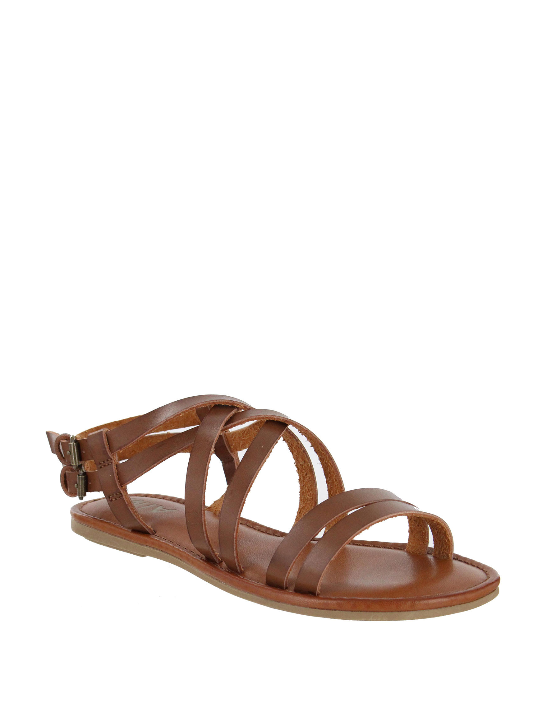MIA Cognac Flat Sandals