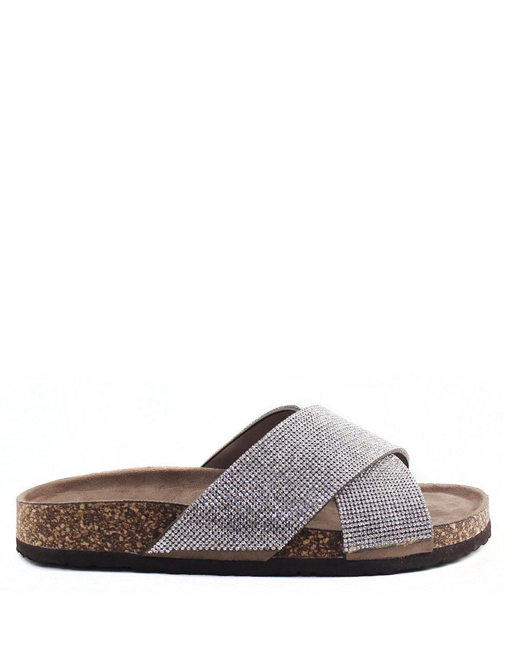 London Rag Taupe Flat Sandals