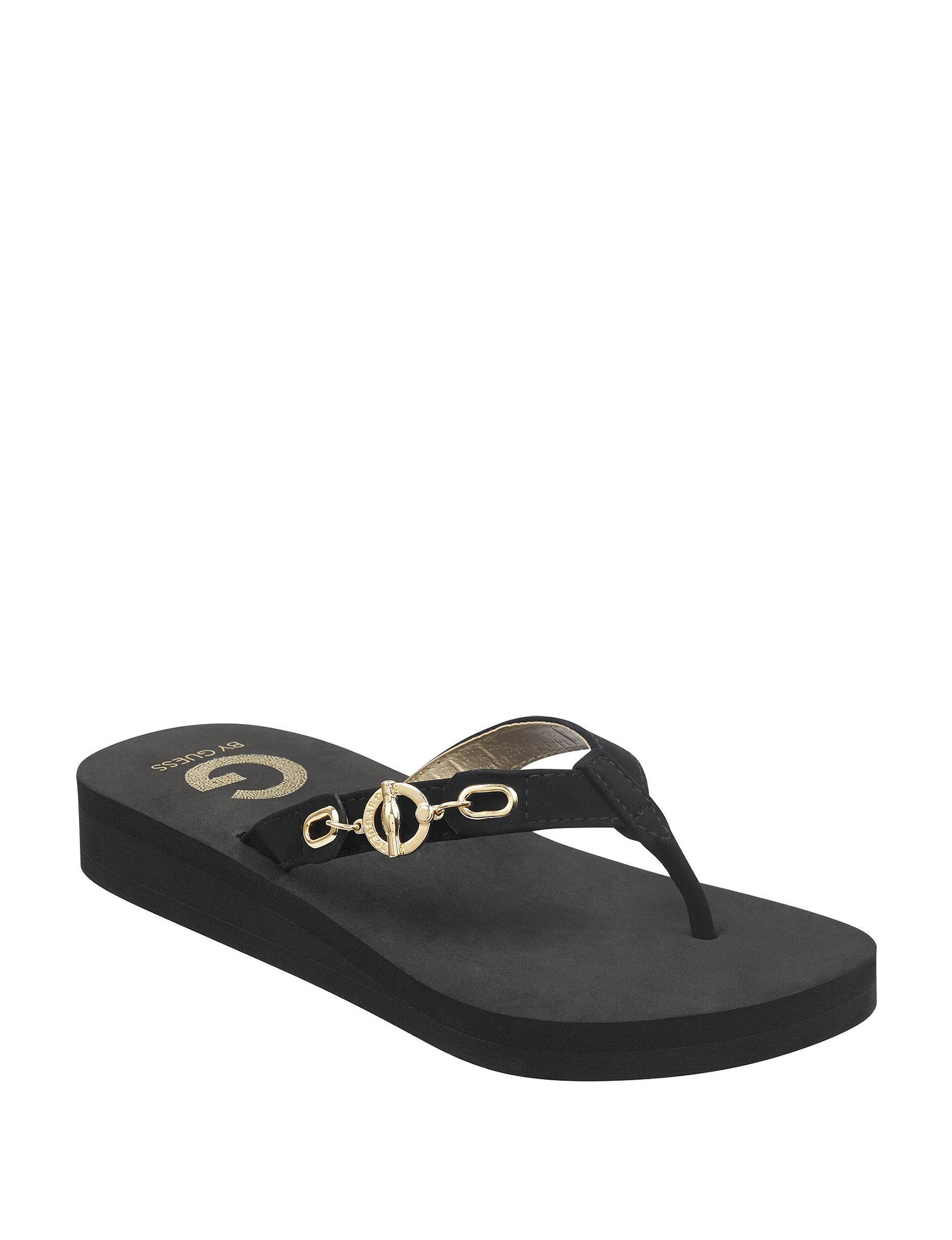 G by Guess Black Flip Flops