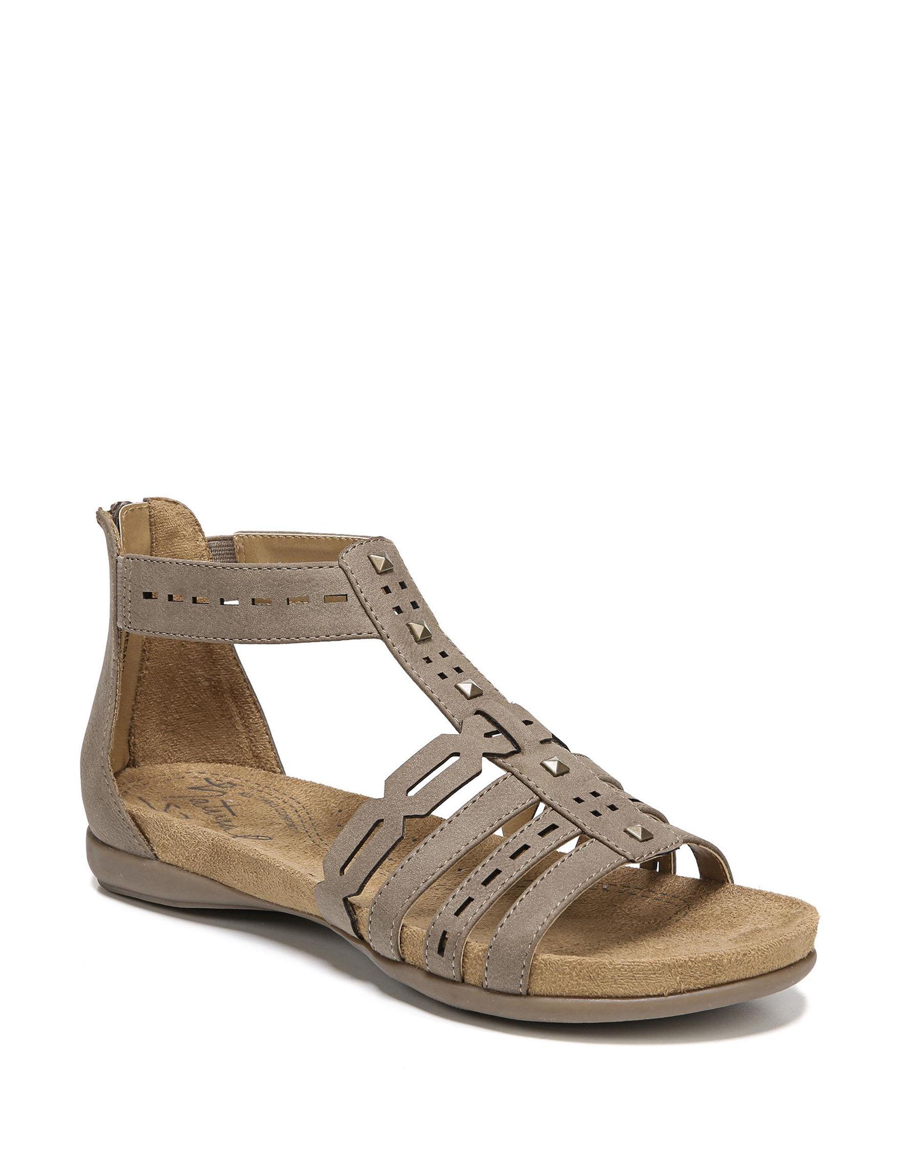 Natural Soul Mushroom Flat Sandals Gladiators Comfort