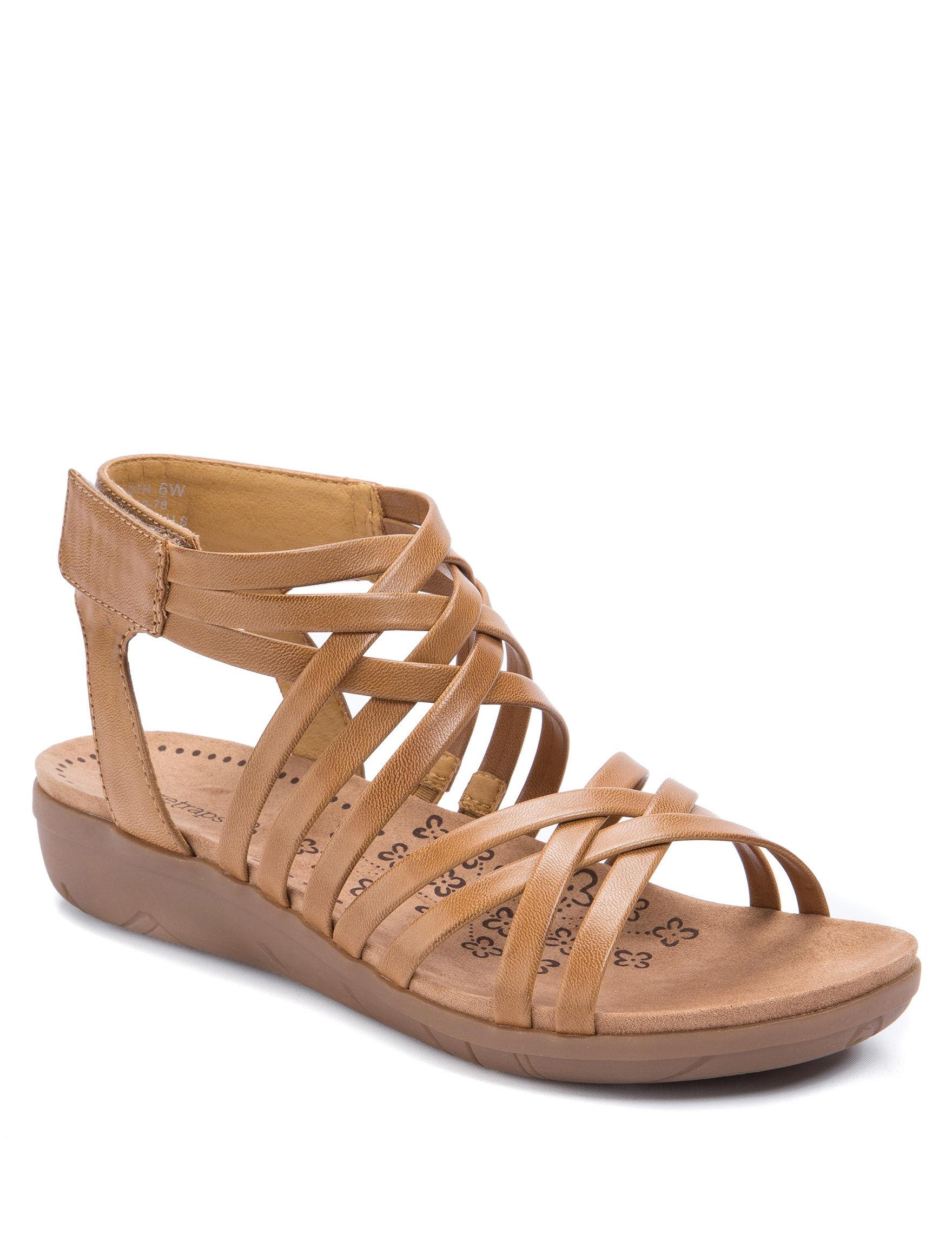 Bare Traps Caramel Flat Sandals Gladiators Comfort