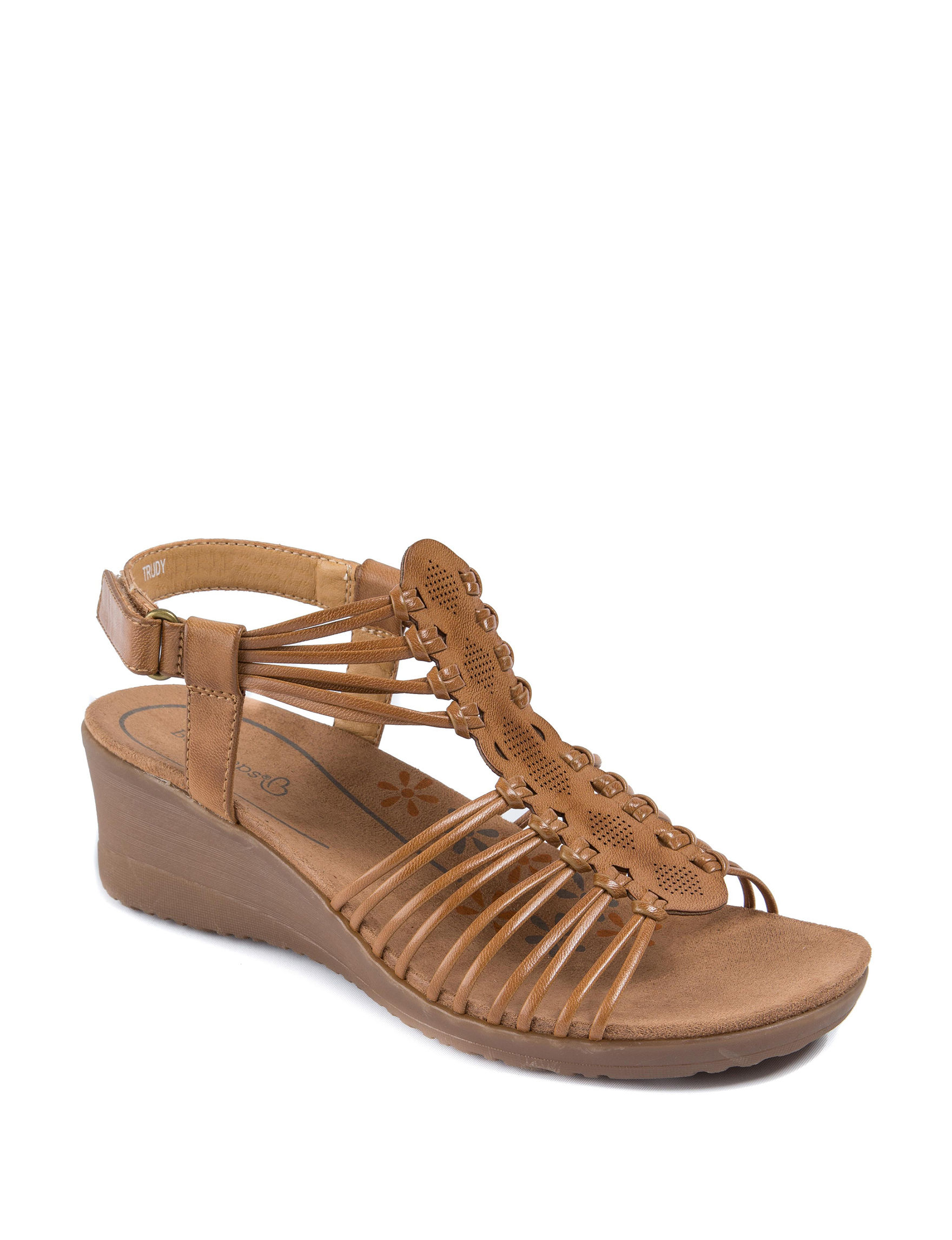 Bare Traps Caramel Wedge Sandals Comfort