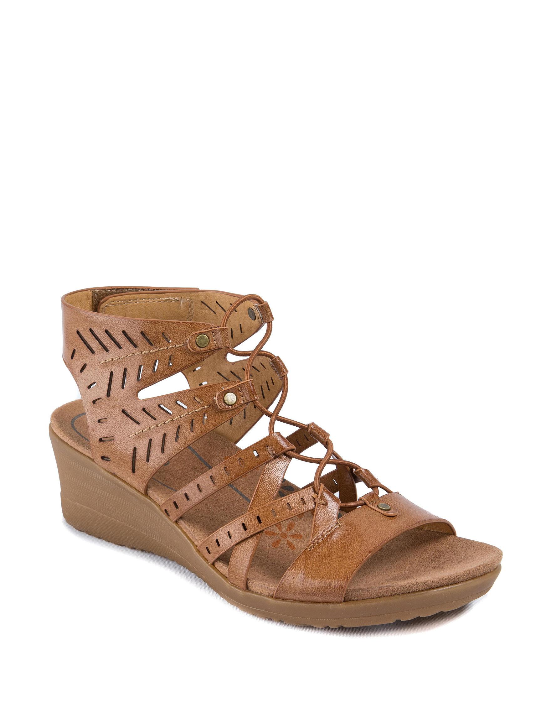 Baretraps Brown Wedge Sandals