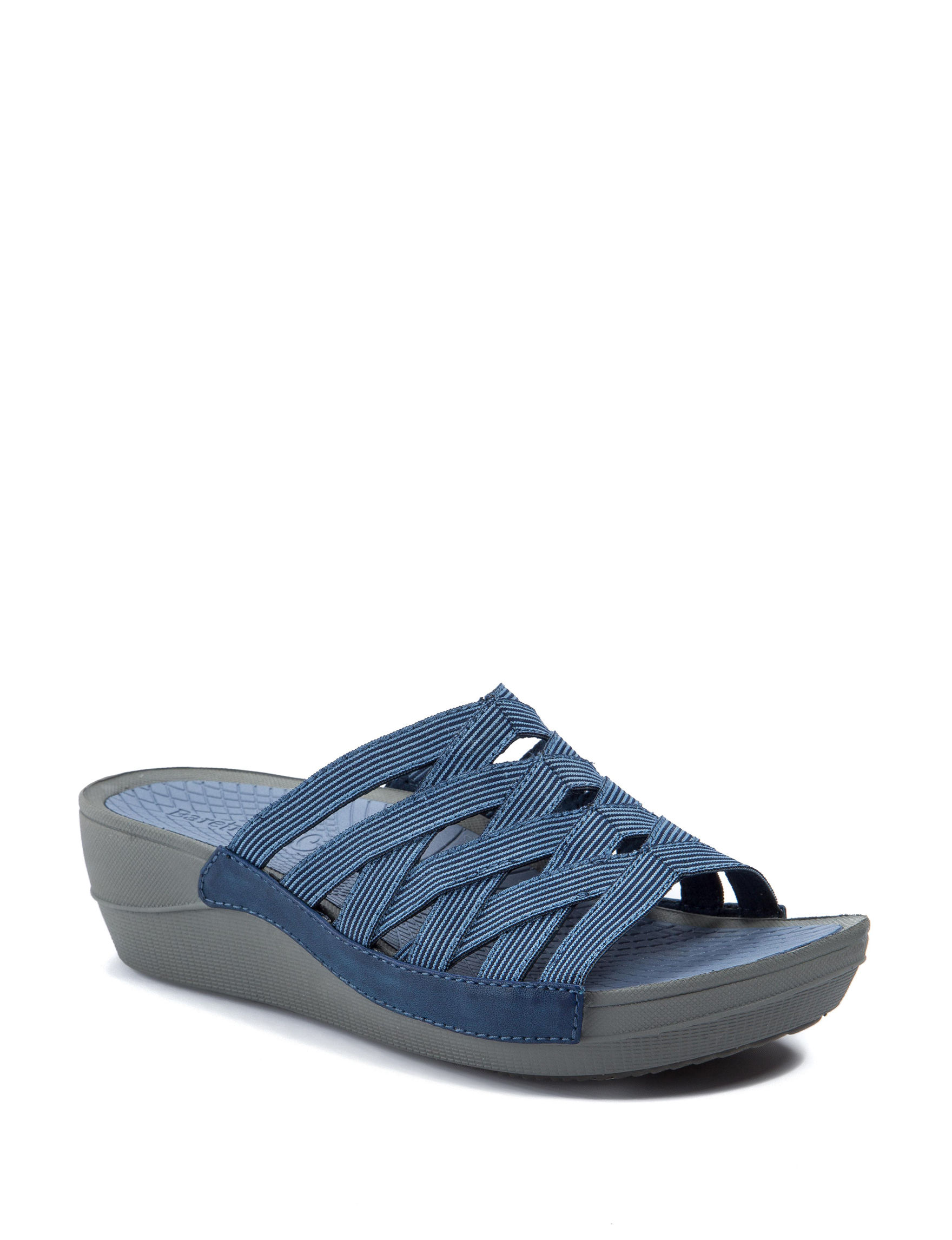Baretraps Denim Flat Sandals Wedge Sandals Comfort
