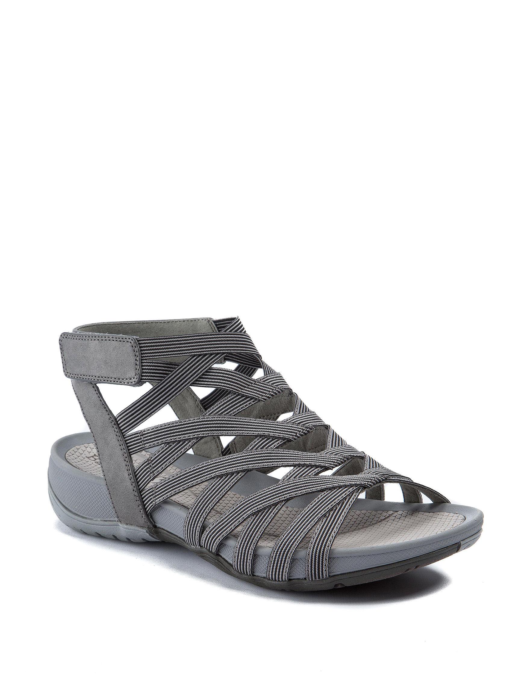 Baretraps Grey Comfort Shoes Flat Sandals Gladiators