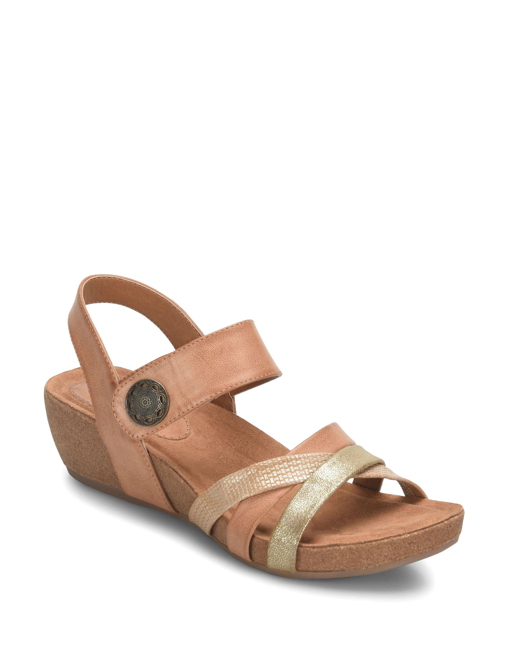Eurosoft Toast Wedge Sandals