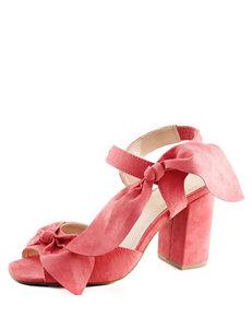 London Rag Coral Heeled Sandals