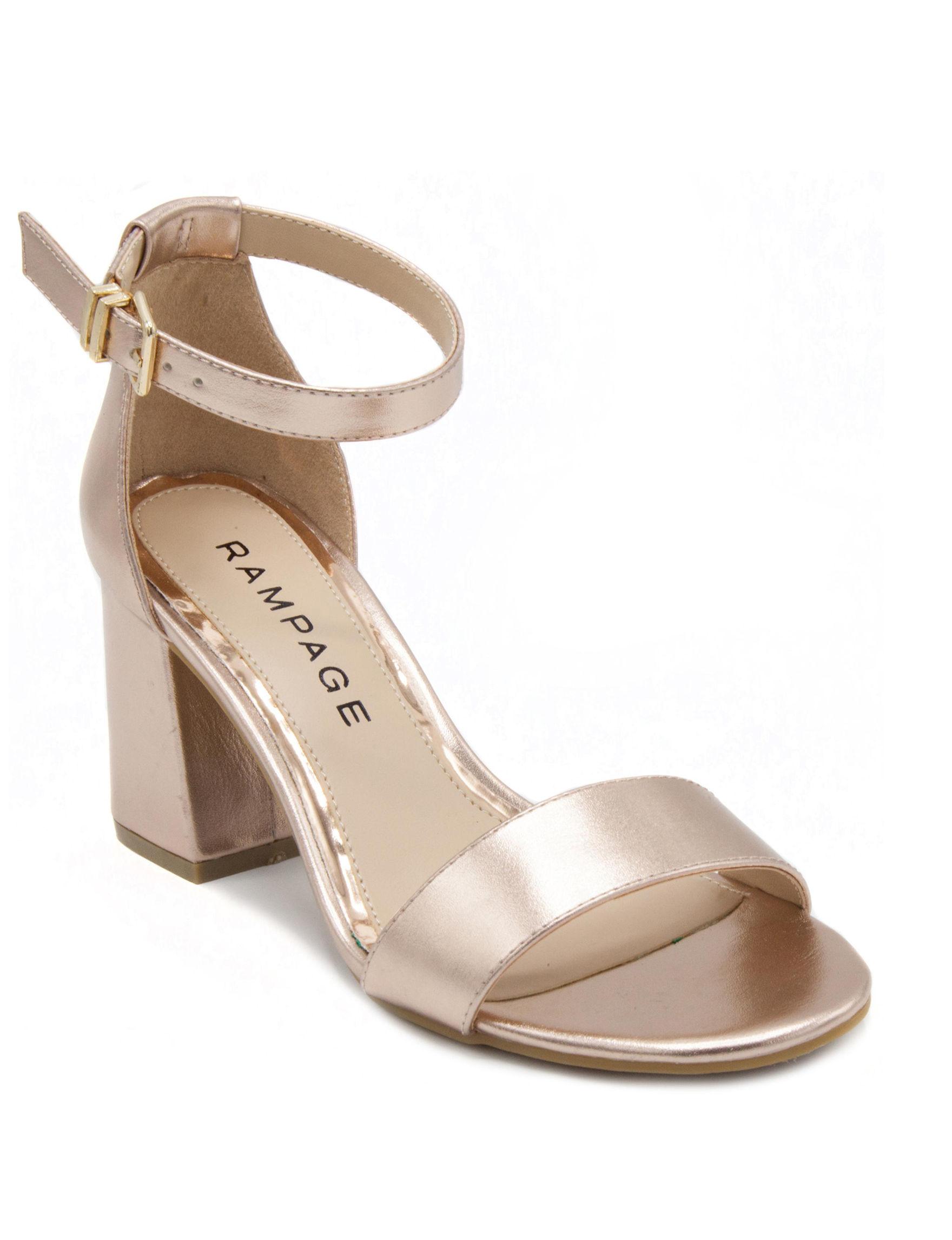 Rampage Rose Gold Heeled Sandals