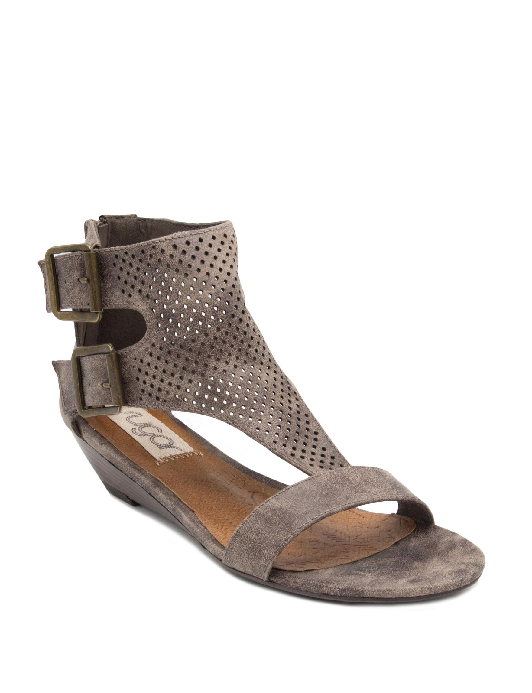 Sugar Taupe Wedge Sandals