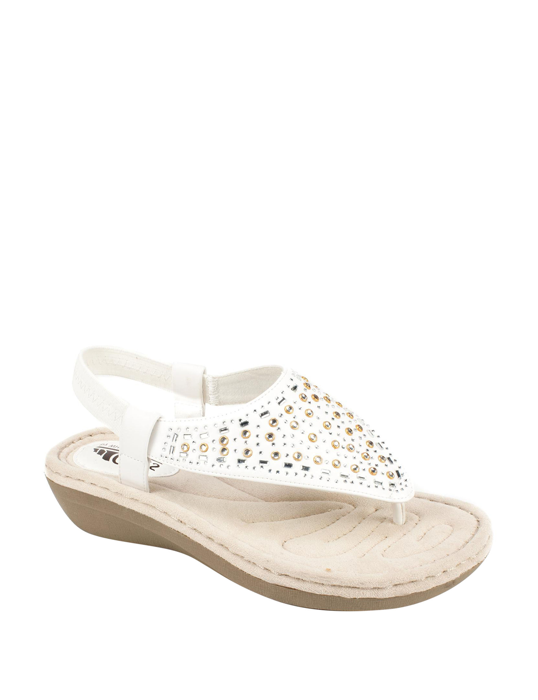 Cliffs White Comfort Shoes Flat Sandals Footbed