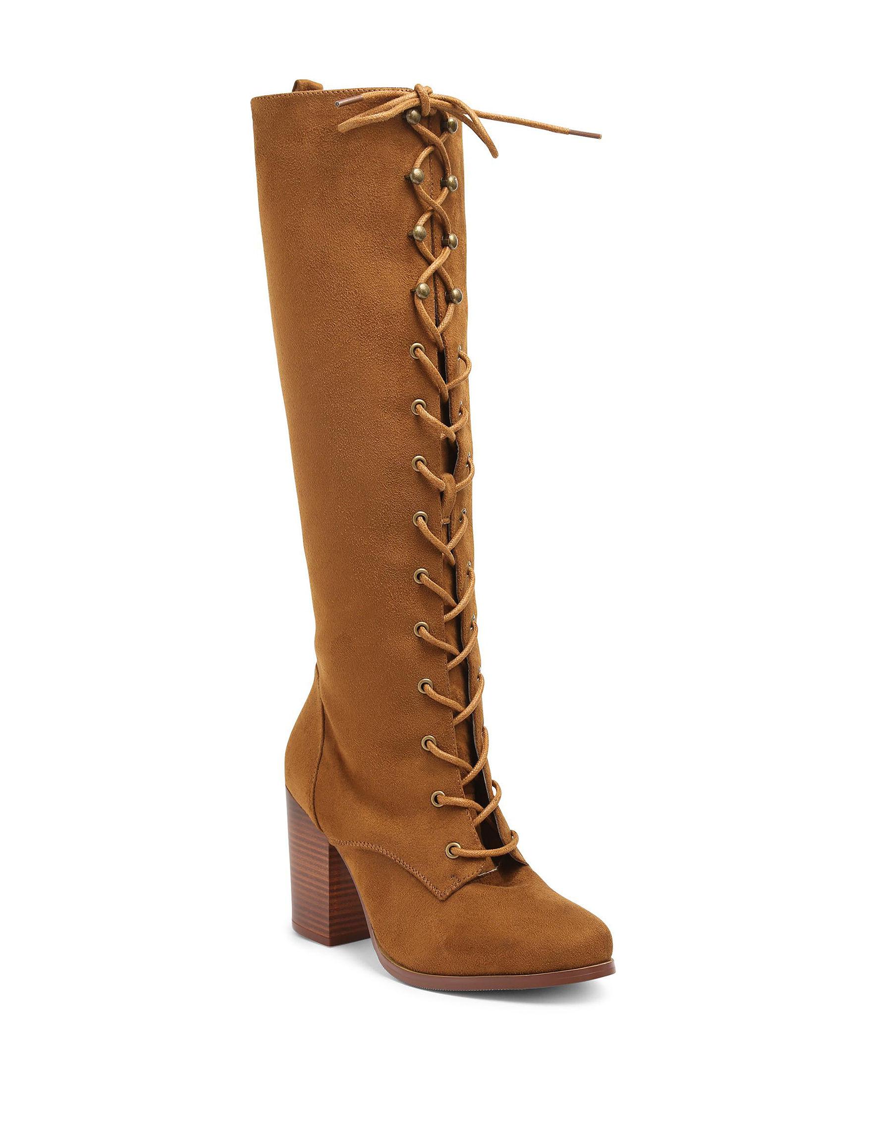 XOXO Cognac Riding Boots