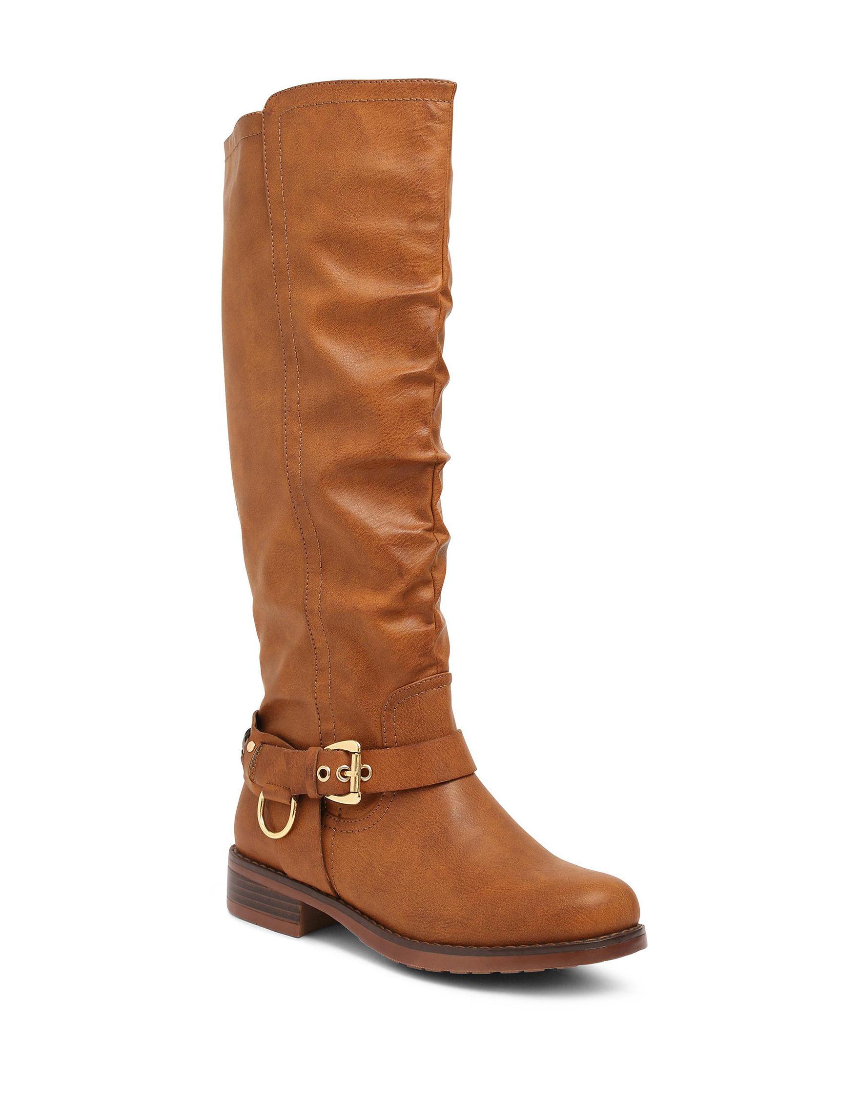 XOXO Tan Riding Boots