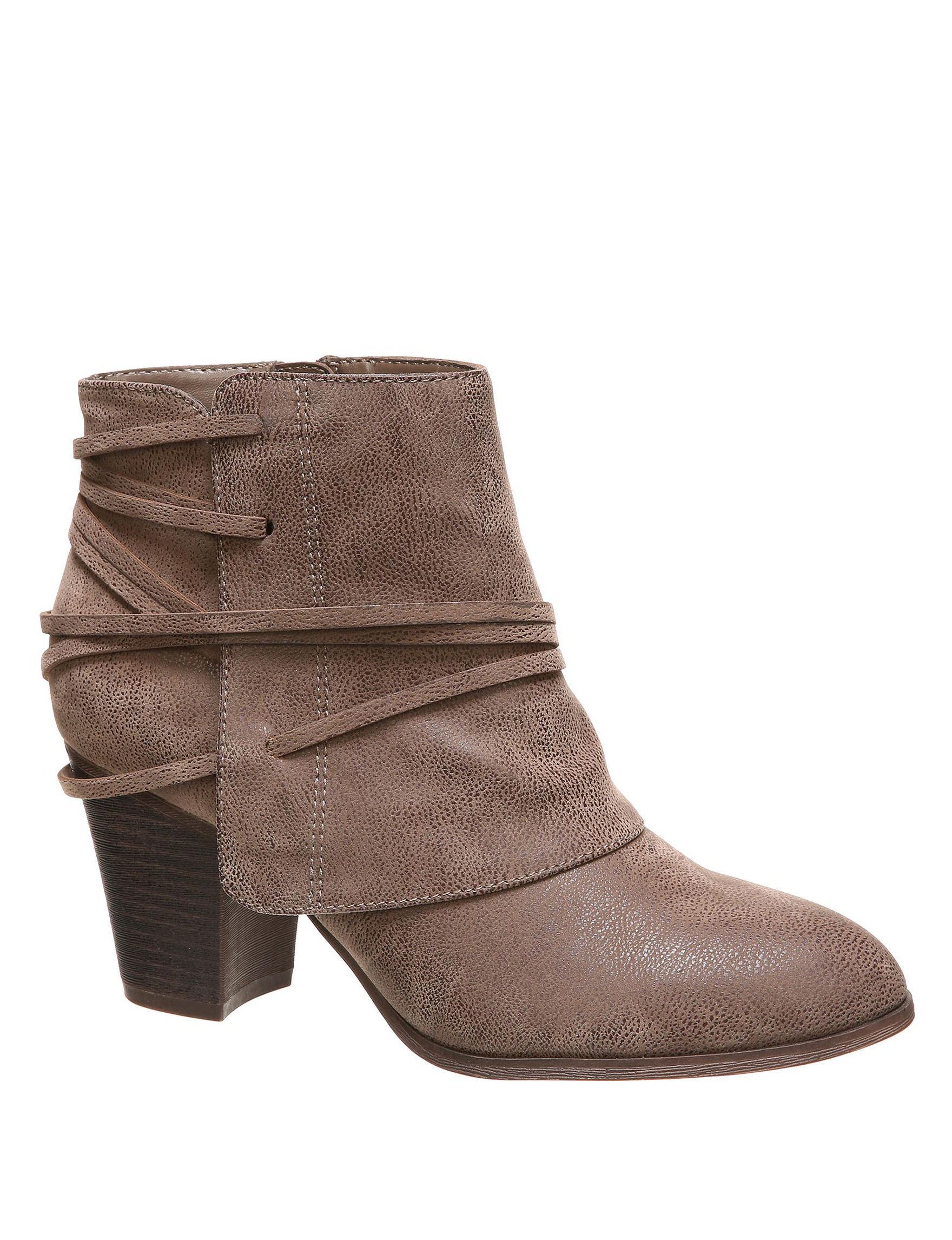 Fergalicious by Fergie Taupe Ankle Boots & Booties