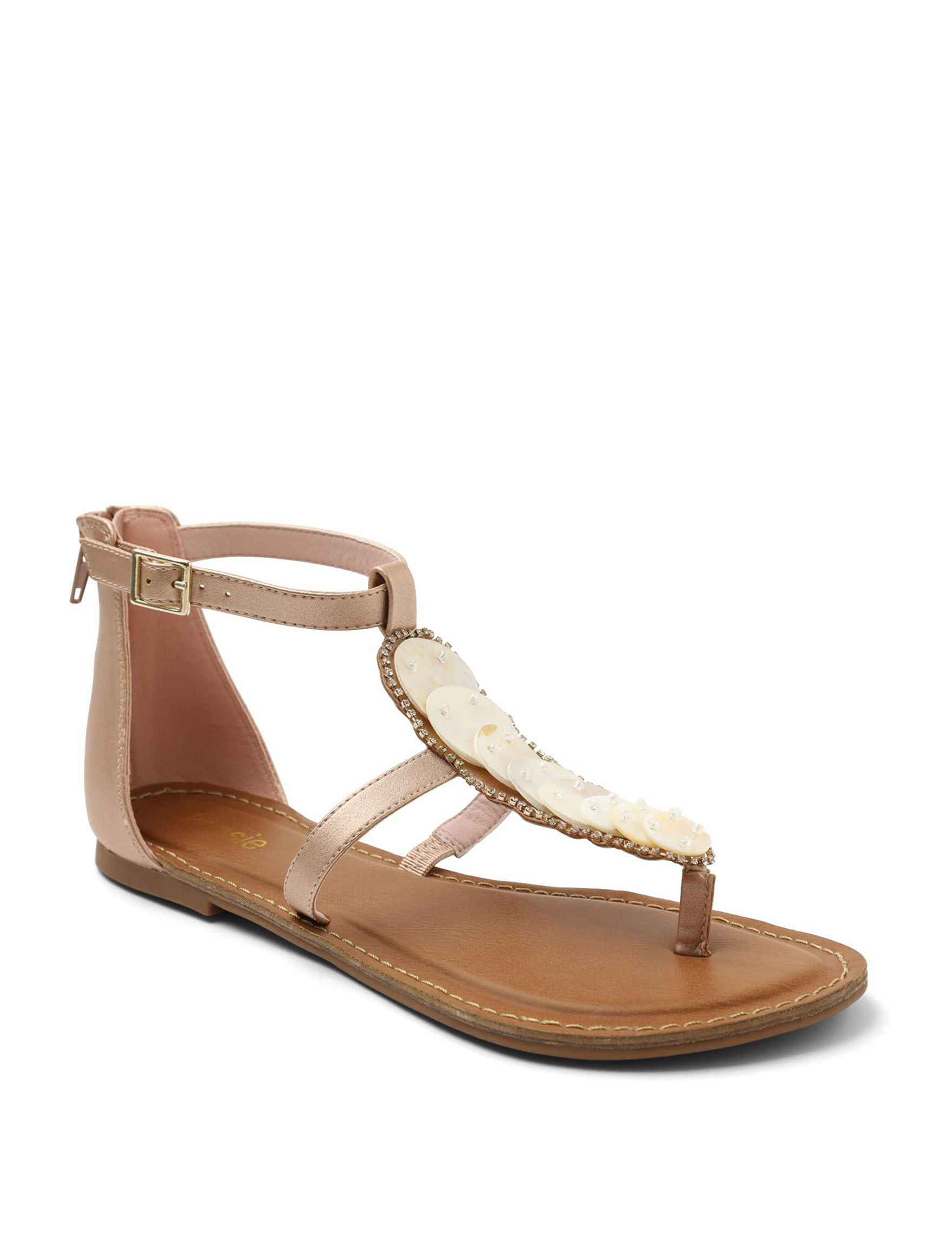 Kensie Rose Gold Flat Sandals