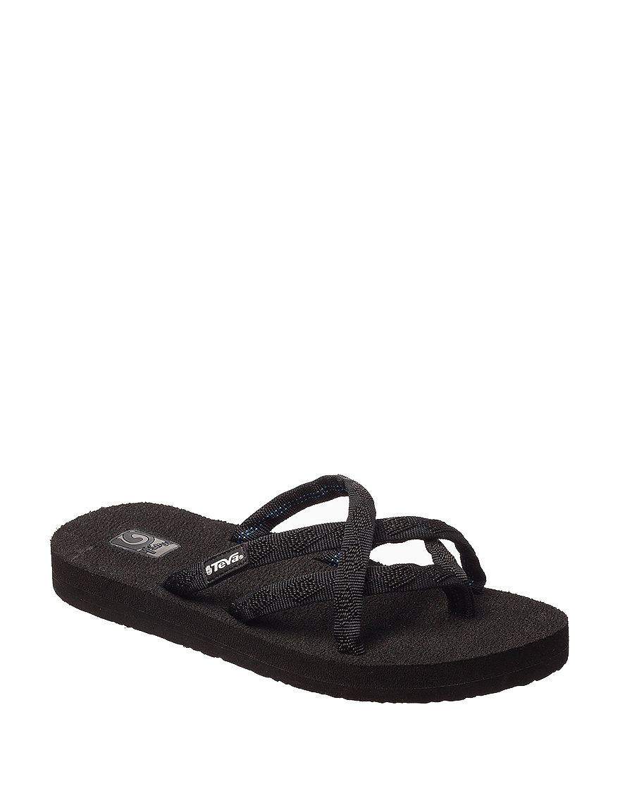 Teva Black Flat Sandals Flip Flops Sport Sandals