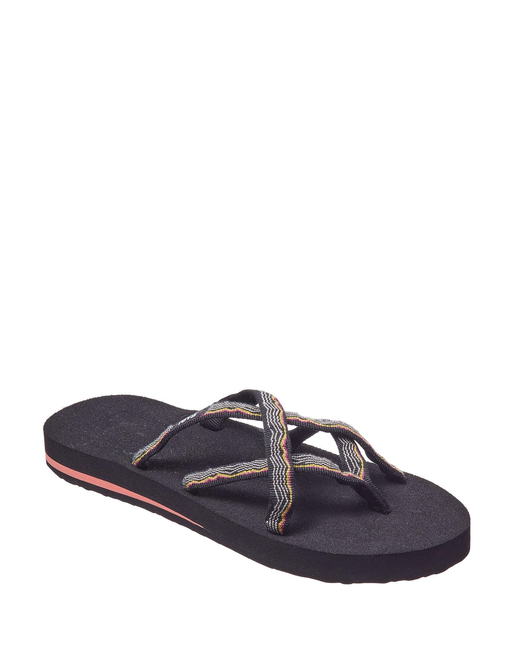 Teva Orange Flip Flops Sport Sandals