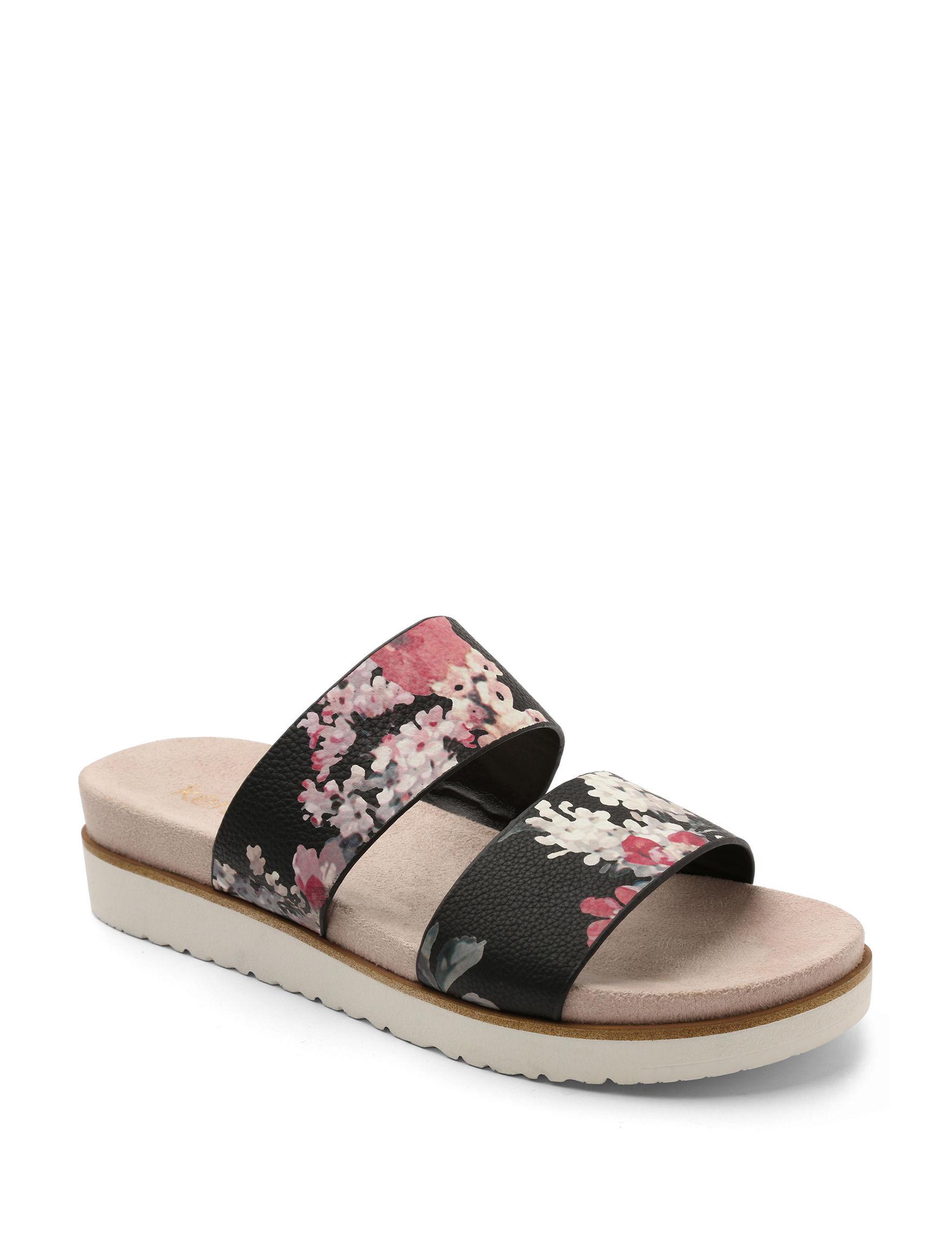 Kensie Black Flat Sandals