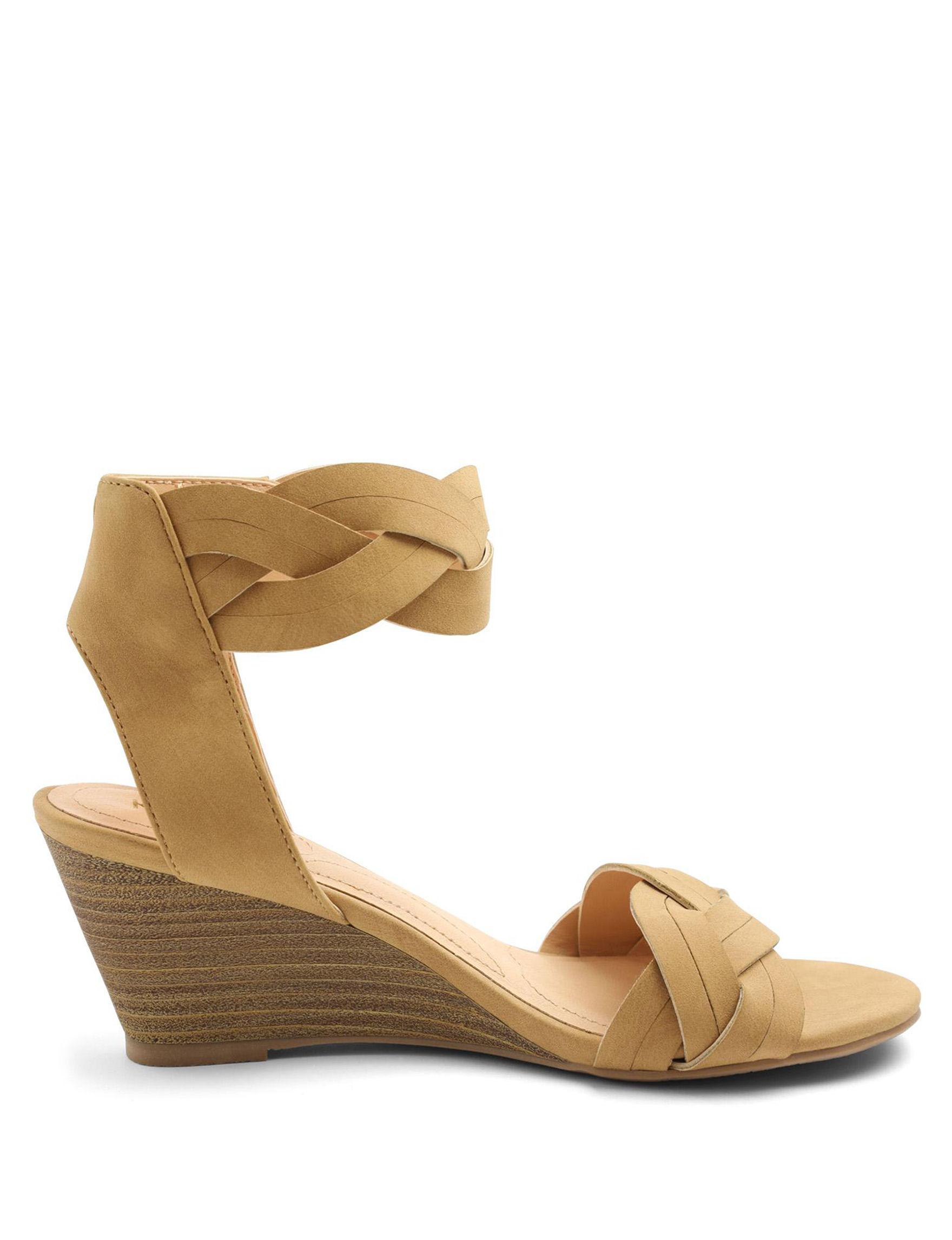 Kensie Tan Wedge Sandals