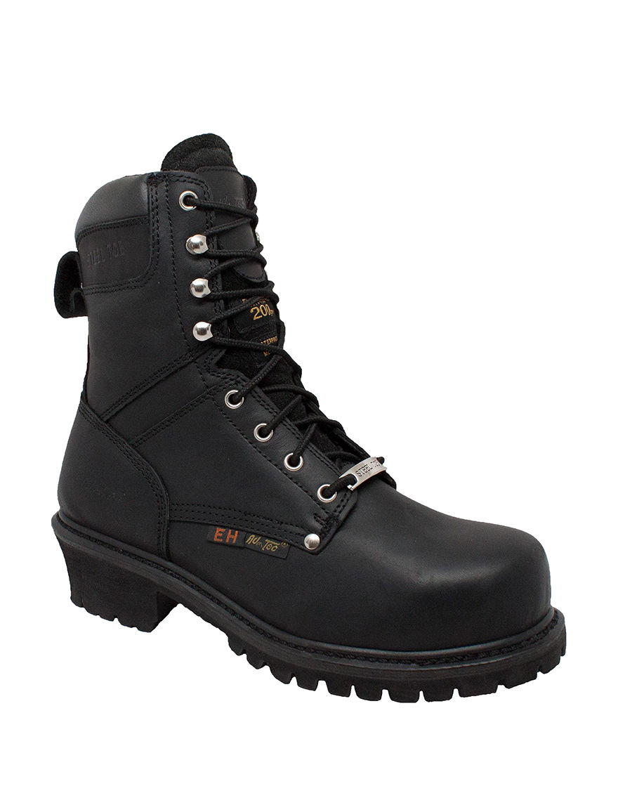 Adtec Black Steel Toe
