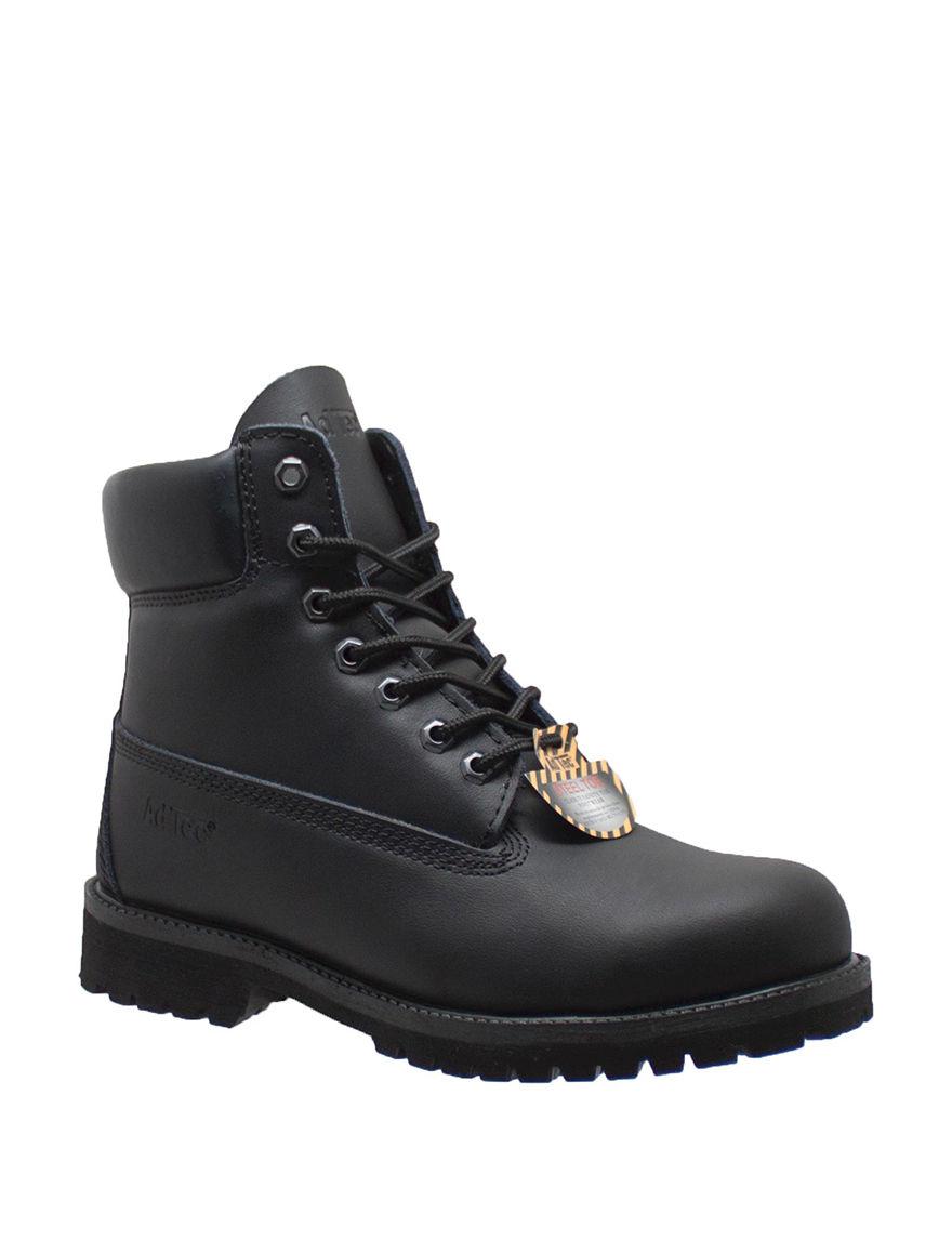 Adtec Black Steel Toe